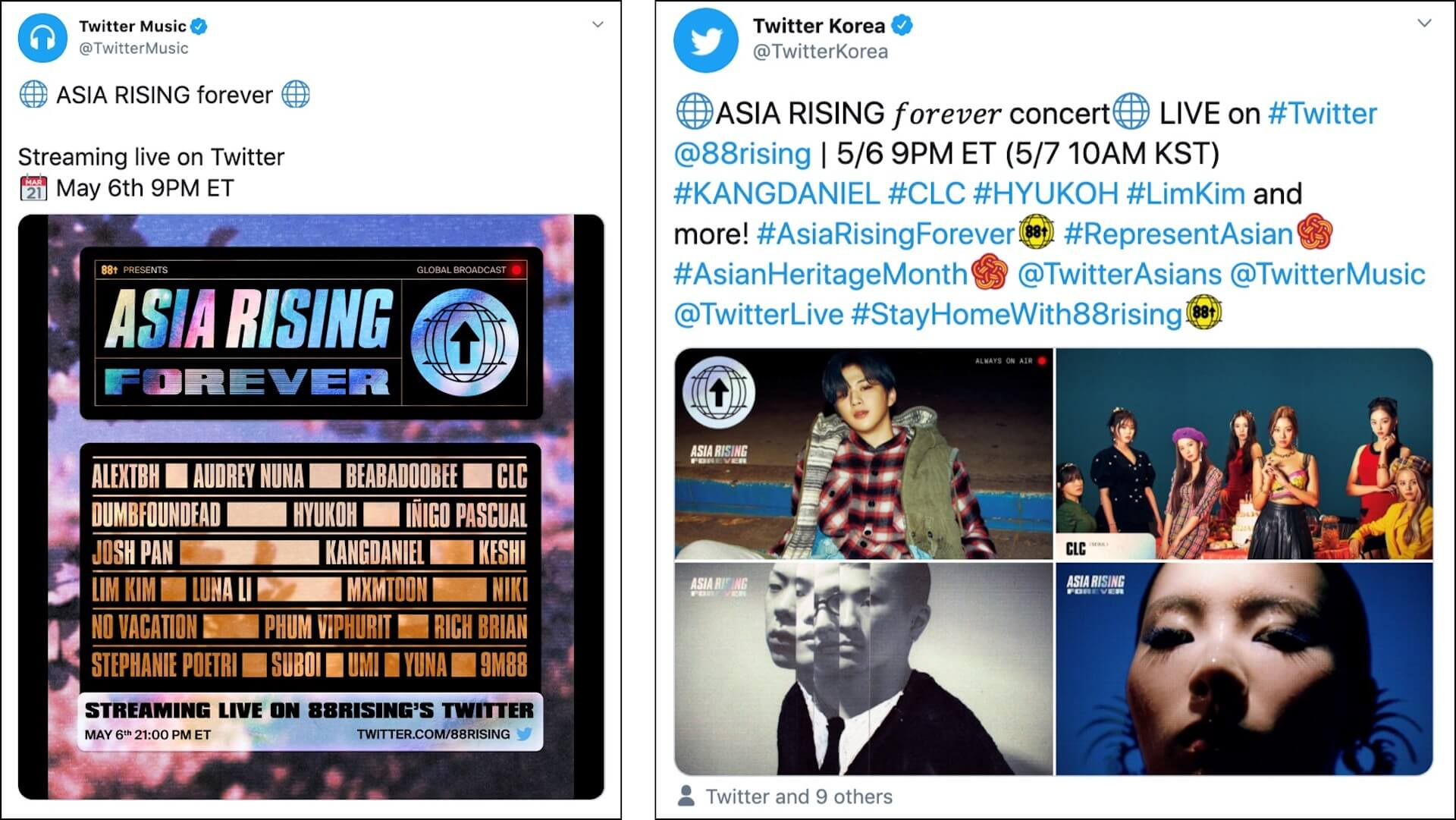 配信ライブ<88rising Presents:ASIA RISING FOREVER>のハイライトクリップがTwitterで視聴可能に! music200508_twitter_88rising_01