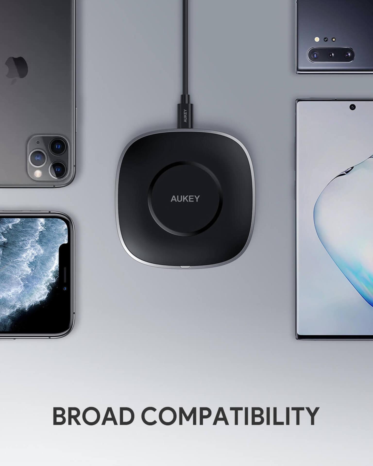 AUKEY QC3.0搭載のワイヤレス充電器『LC-C6』がAmazonで20%OFFに!期間限定クーポンコードが登場 tech200512_aukey_wirelesscharger_04