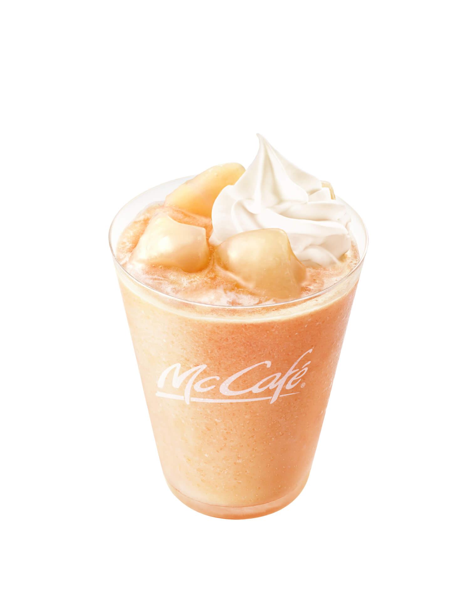 マクドナルドのMcCafé by Baristaに夏気分を先取りできる「桃のスムージー」が再登場! gourmet200513_mcdonald_momo_1