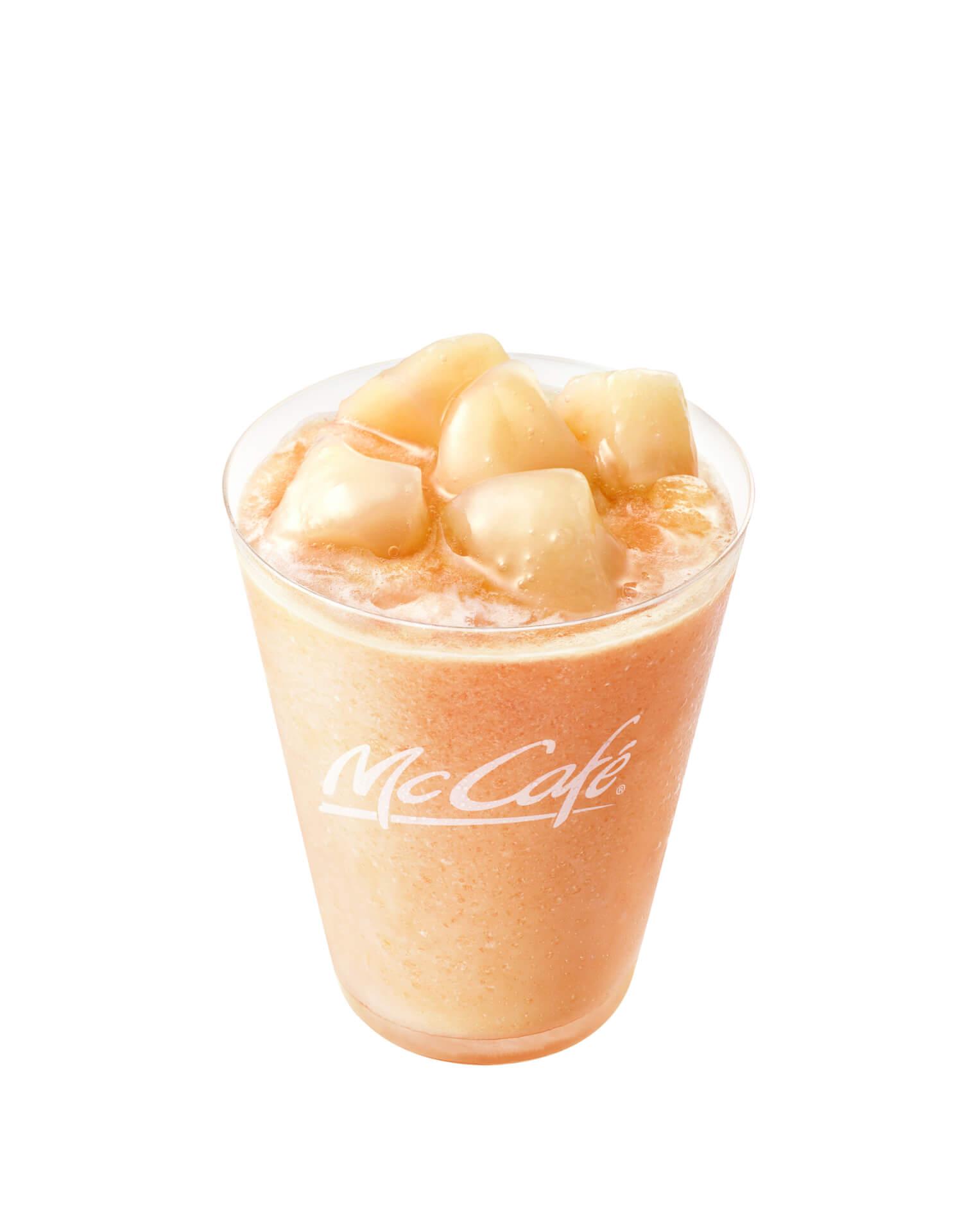 マクドナルドのMcCafé by Baristaに夏気分を先取りできる「桃のスムージー」が再登場! gourmet200513_mcdonald_momo_5