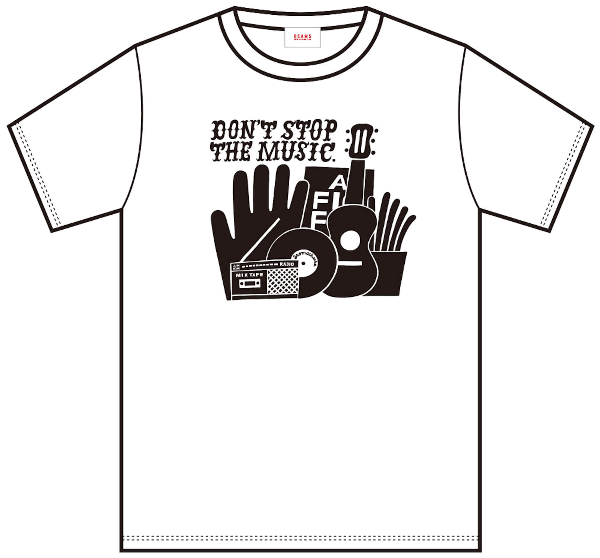 J-WAVE「#音楽を止めるな」BEAMS RECORDS協力のもと、ライブハウスを支援するオリジナルTシャツが受注販売開始! lf200515_jwave_beamsrecords_tshirts_04