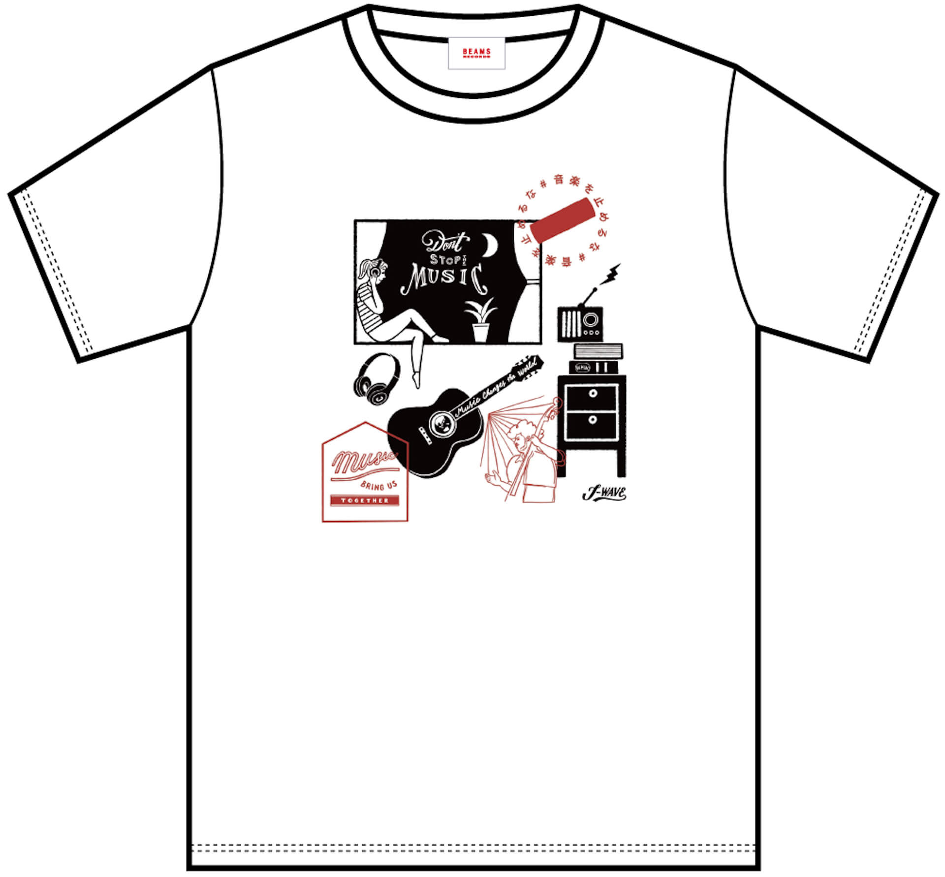 J-WAVE「#音楽を止めるな」BEAMS RECORDS協力のもと、ライブハウスを支援するオリジナルTシャツが受注販売開始! lf200515_jwave_beamsrecords_tshirts_12