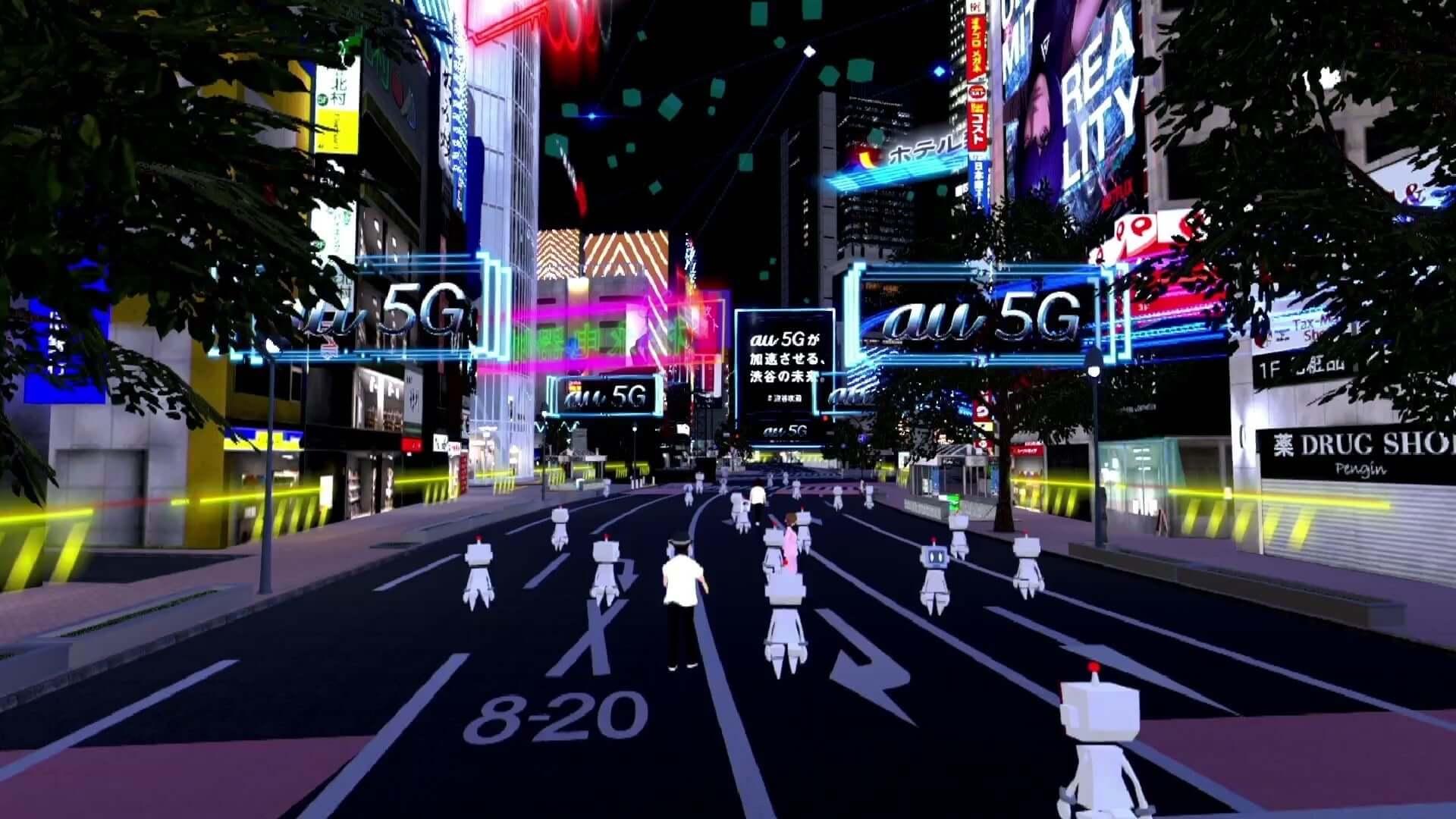 「バーチャル渋谷」で開催された<#渋谷攻殻NIGHT by au5G>の映像が公開|宇川直宏、若槻千夏、セカオワ・DJ LOVEら登場 art200520_shibuya5g_project_8-1920x1080