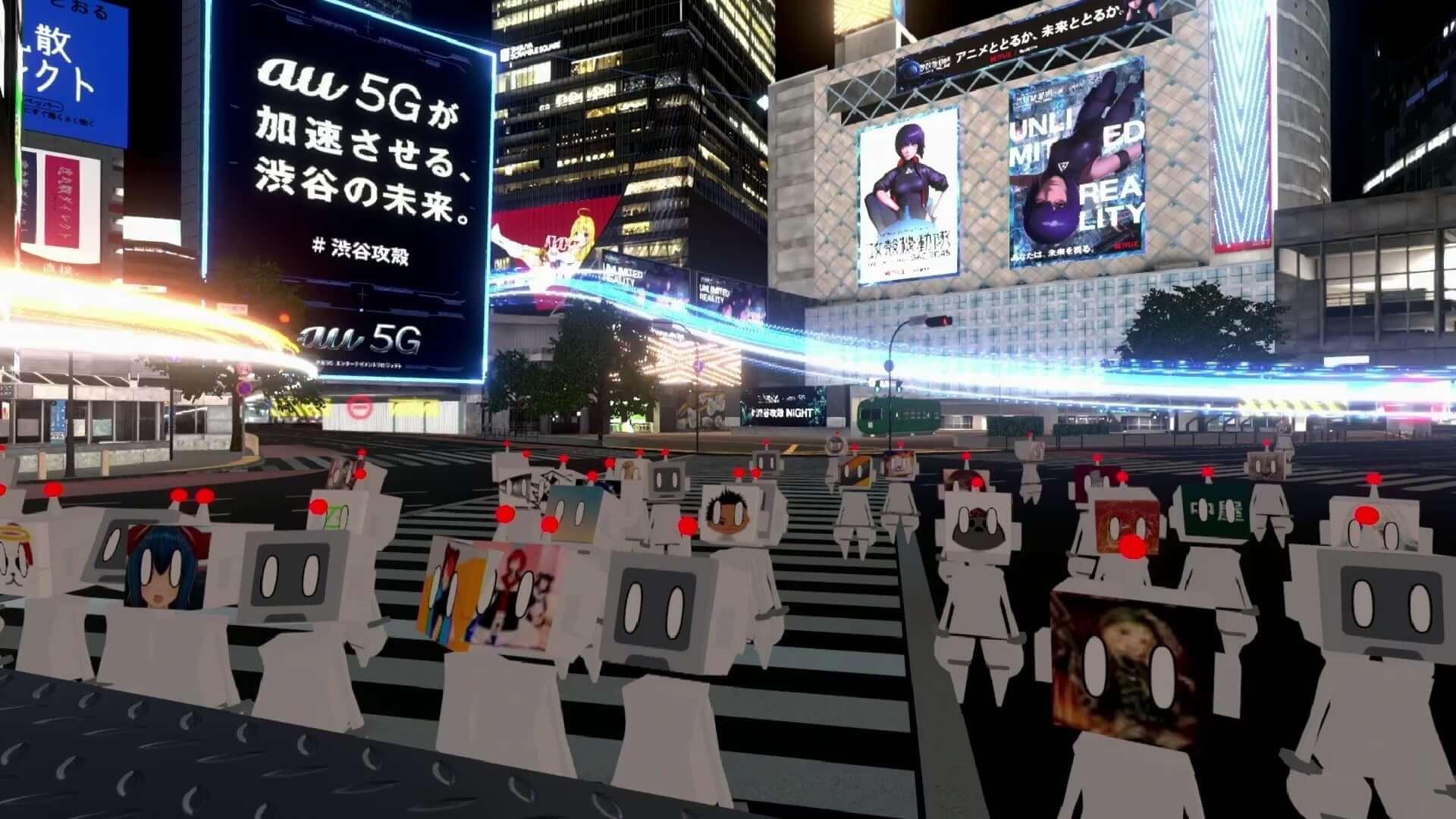 「バーチャル渋谷」で開催された<#渋谷攻殻NIGHT by au5G>の映像が公開|宇川直宏、若槻千夏、セカオワ・DJ LOVEら登場 art200520_shibuya5g_project_9-1920x1080