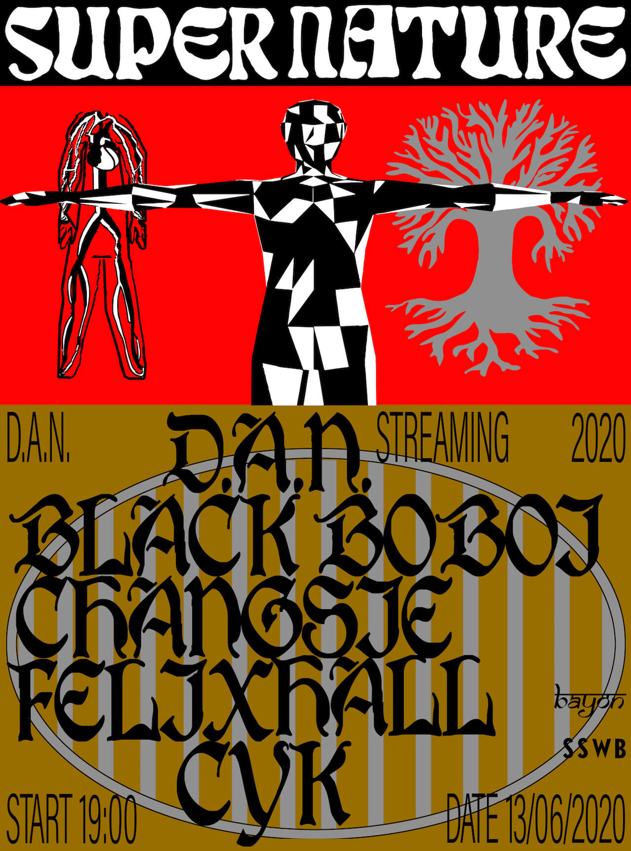 D.A.N.主催の配信イベント企画<Supernature>に追加アクトとしてCYK+VJ kechanが出演決定 music200524-dan-supernature-3