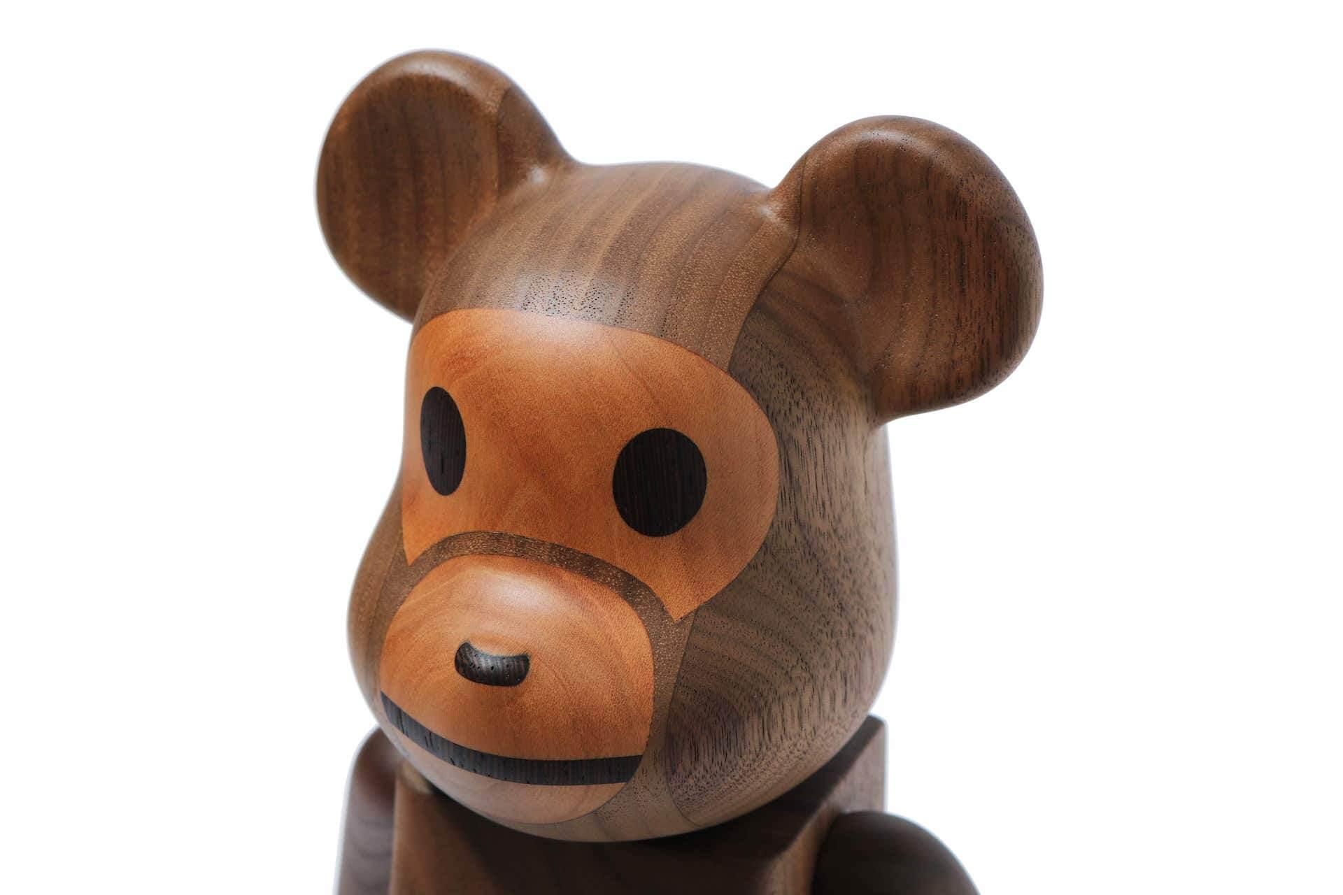 A BATHING APE(R)×カリモク×メディコム・トイのトリプルコラボ!BABY MILO(R)の木製BE@RBRICKが登場 ac200526_bearbrick_06