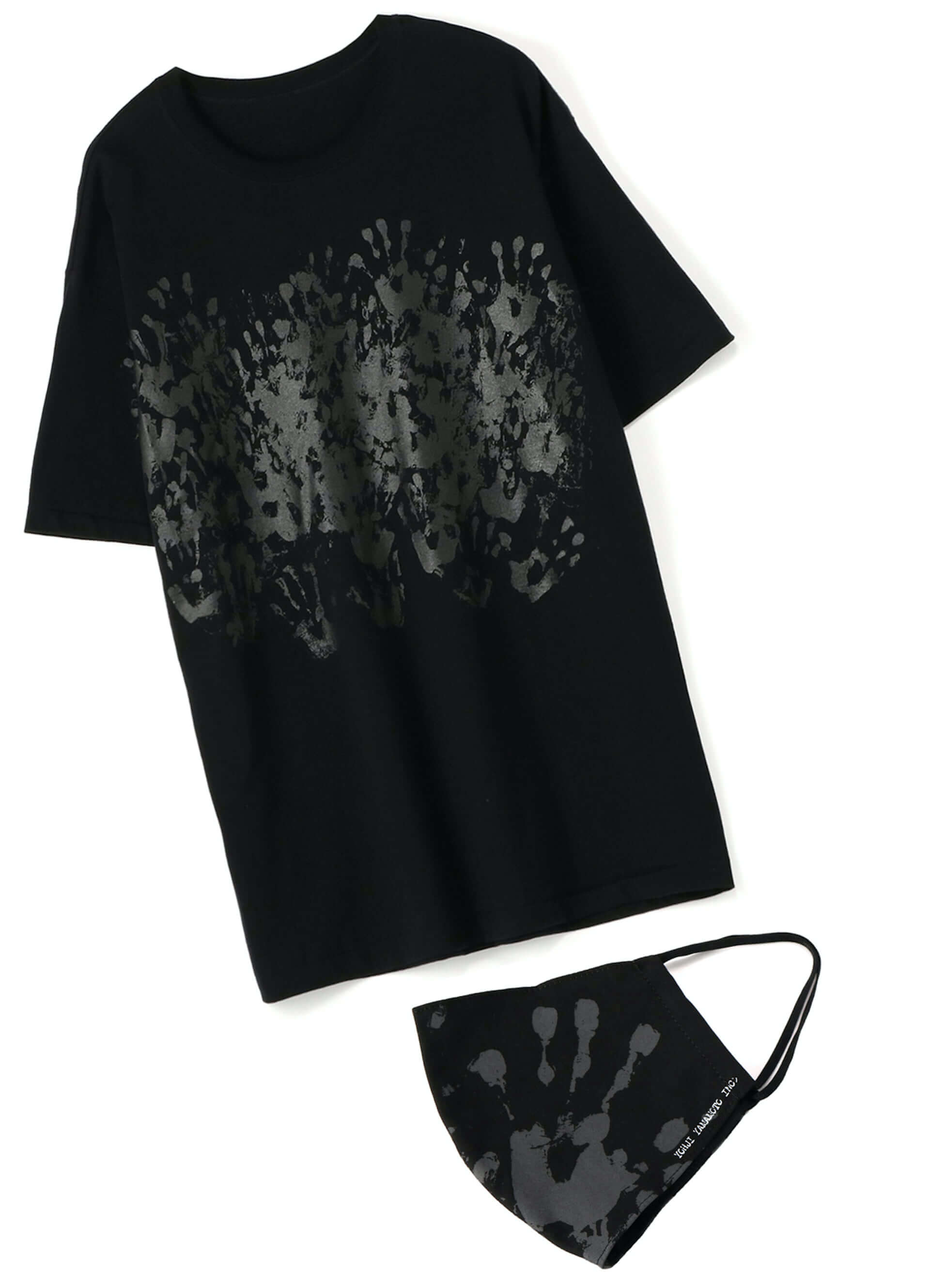 YOHJI YAMAMOTO +NOIRと画家 内田すずめがコラボした「Tシャツ+マスク」が限定販売!鳩や手の平のモチーフ3型 lf200604_yohjiyamamoto_02-1920x2658