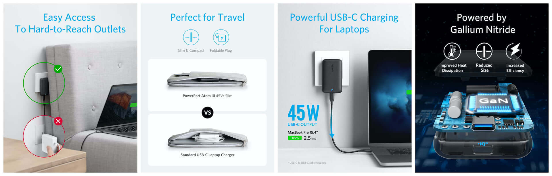 USB-CポートでスマホもPCも急速充電!Ankerからコンパクトながら最大45W出力の充電器が登場 tech200604_anker_powerport_02-1920x614