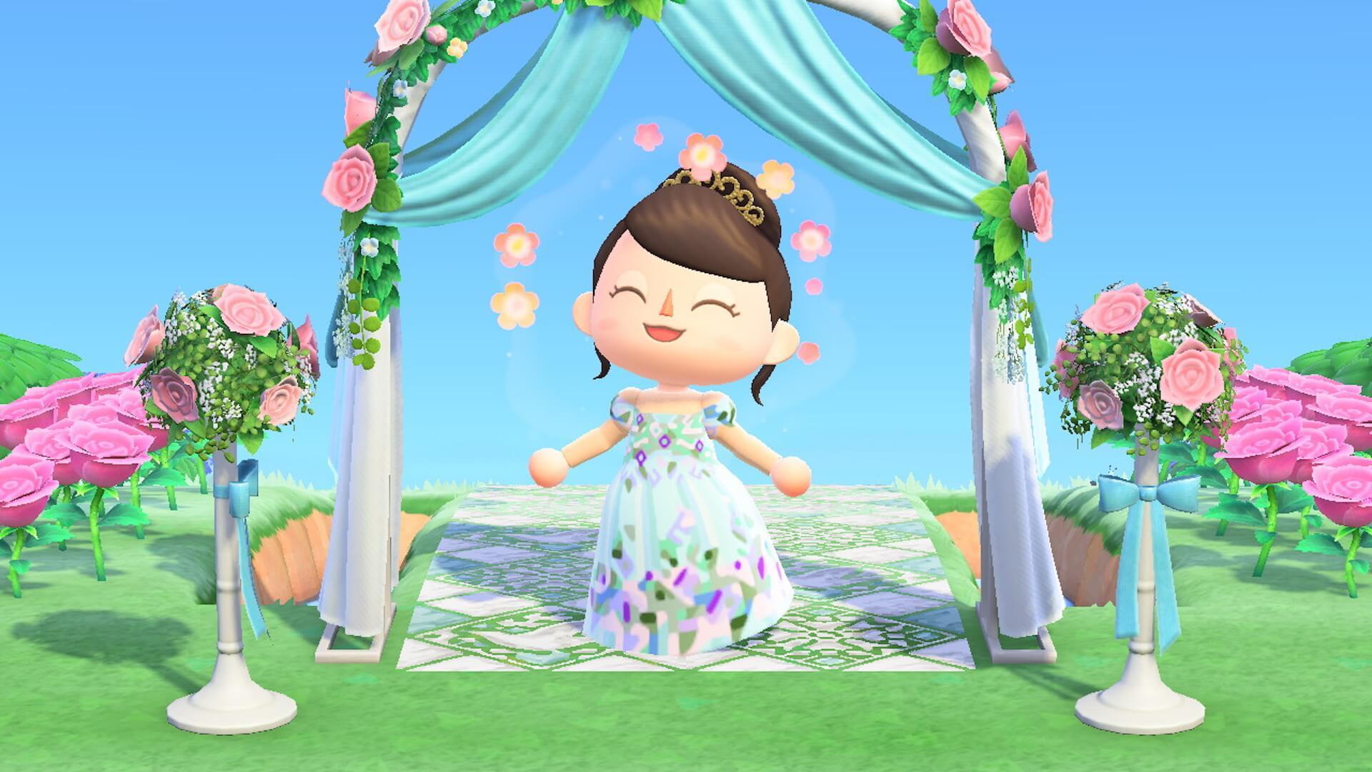 あつ森でYumi Katsuraのウエディングドレスを着て結婚式を挙げよう!?『あつまれ どうぶつの森』マイデザインが公式Instgramで配布開始 tech200608_animalcrossing_1