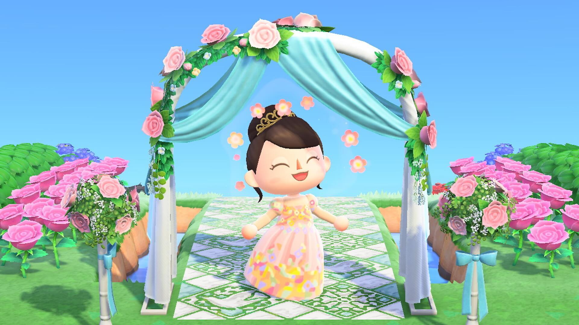 あつ森でYumi Katsuraのウエディングドレスを着て結婚式を挙げよう!?『あつまれ どうぶつの森』マイデザインが公式Instgramで配布開始 tech200608_animalcrossing_2