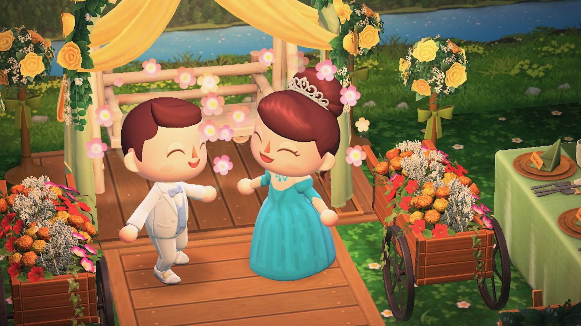 あつ森でYumi Katsuraのウエディングドレスを着て結婚式を挙げよう!?『あつまれ どうぶつの森』マイデザインが公式Instgramで配布開始 tech200608_animalcrossing_4