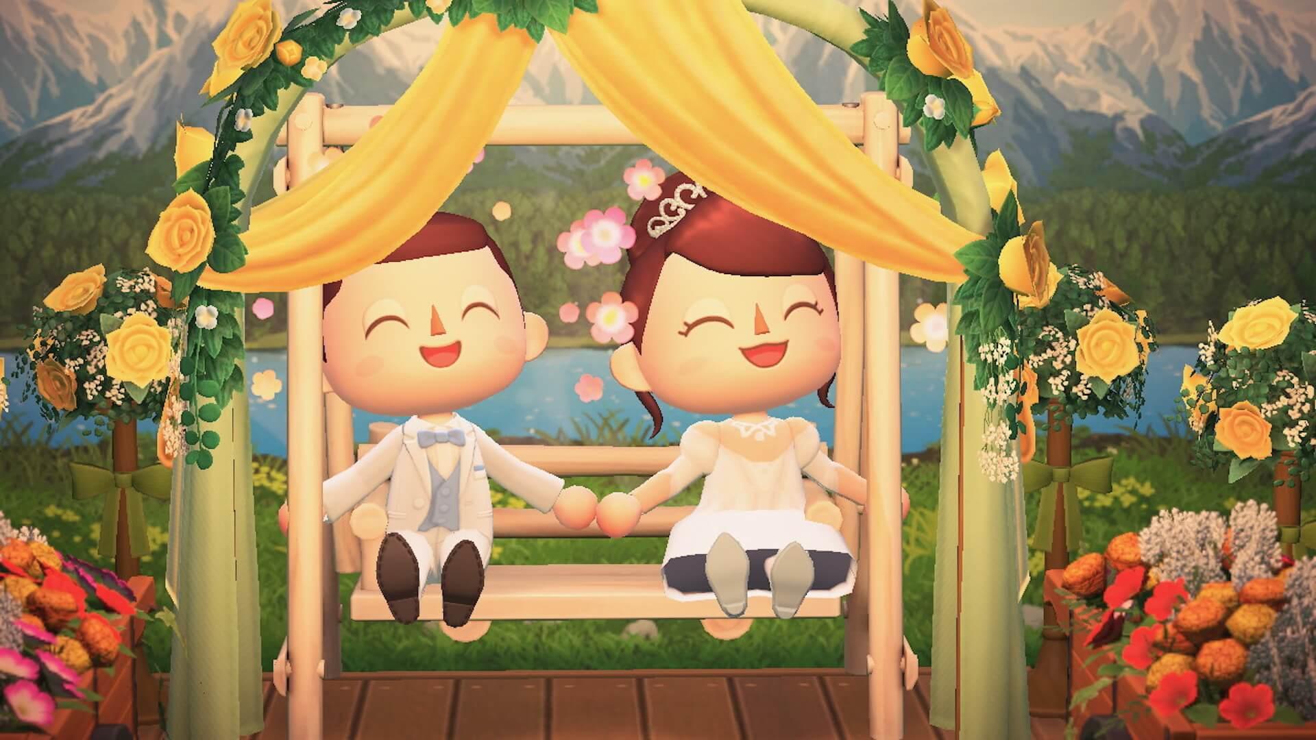 あつ森でYumi Katsuraのウエディングドレスを着て結婚式を挙げよう!?『あつまれ どうぶつの森』マイデザインが公式Instgramで配布開始 tech200608_animalcrossing_5