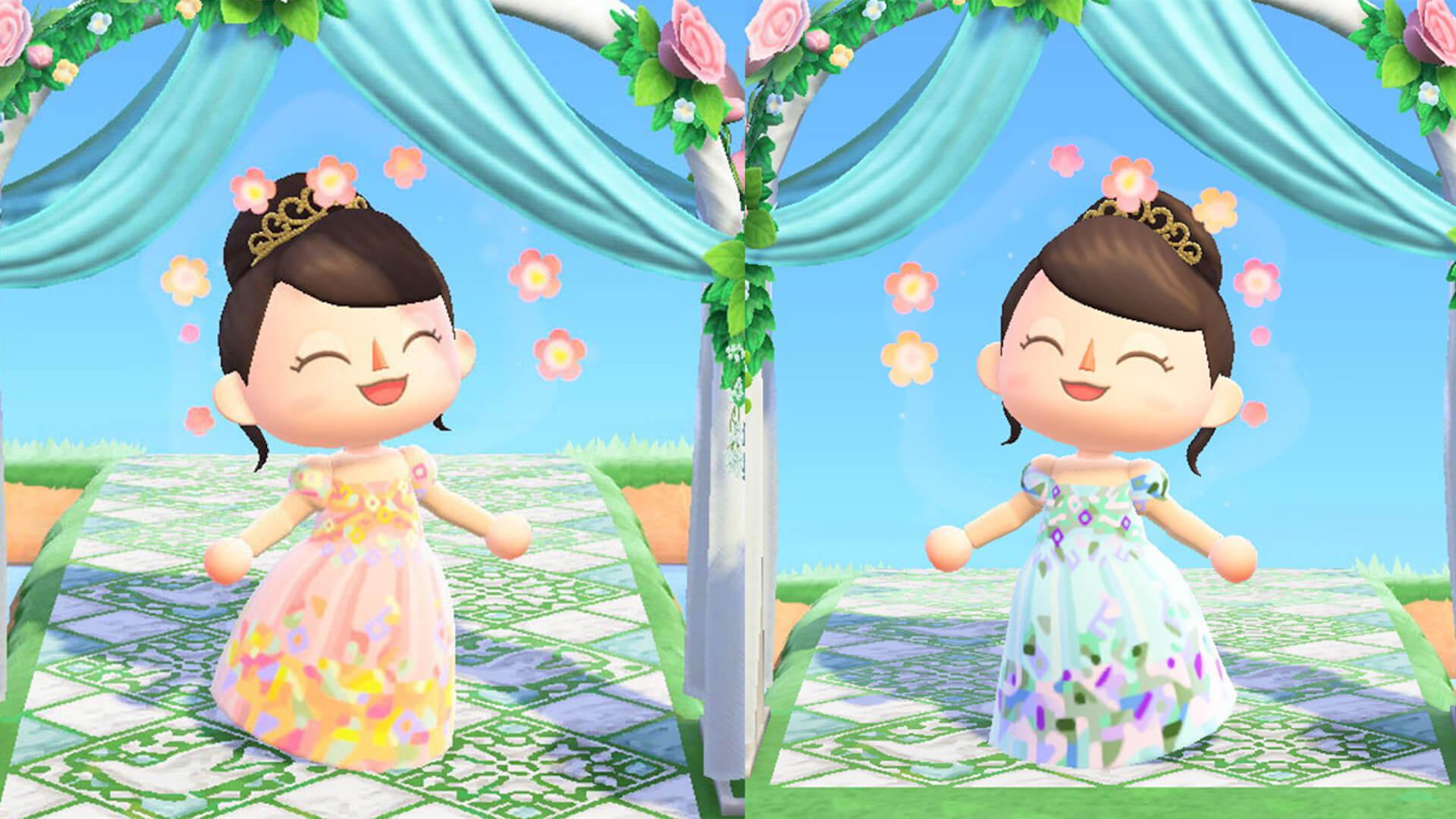 あつ森でYumi Katsuraのウエディングドレスを着て結婚式を挙げよう!?『あつまれ どうぶつの森』マイデザインが公式Instgramで配布開始 tech200608_animalcrossing_7