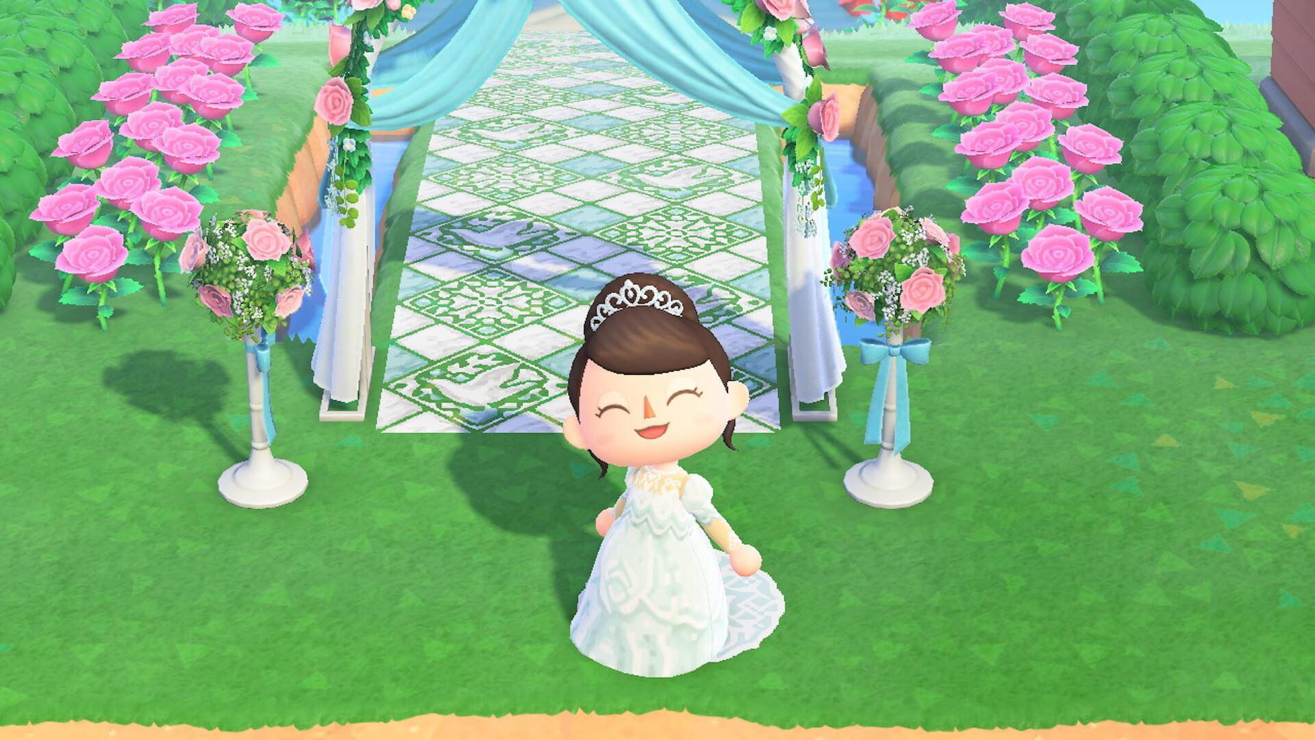 あつ森でYumi Katsuraのウエディングドレスを着て結婚式を挙げよう!?『あつまれ どうぶつの森』マイデザインが公式Instgramで配布開始 tech200608_animalcrossing_9