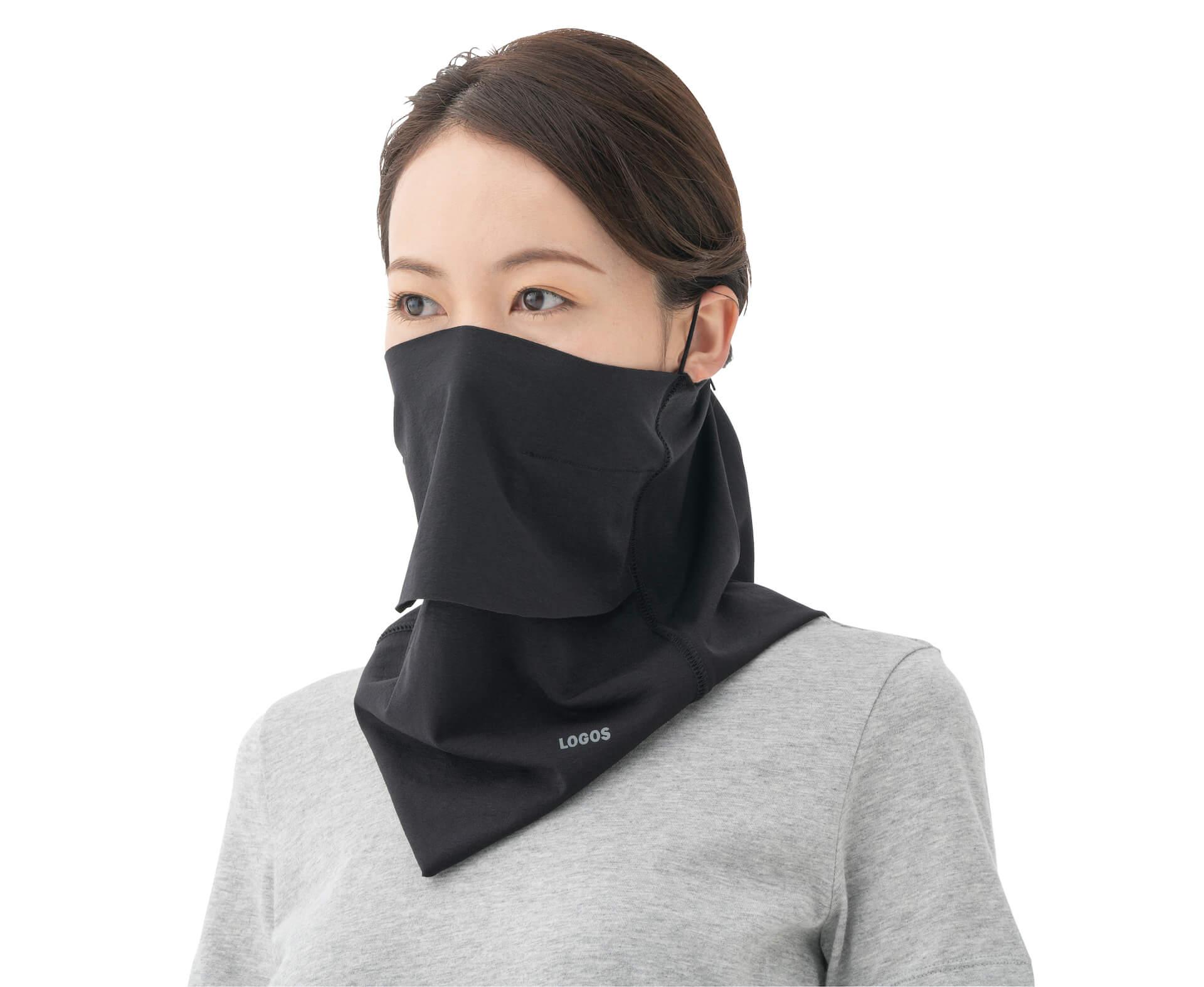 ひんやり素材のマスクで夏も快適!品切れ続出のLOGOS『美フィットスキン UVフェイスマスク』が追加販売決定 lf200609_.logos_mask_03