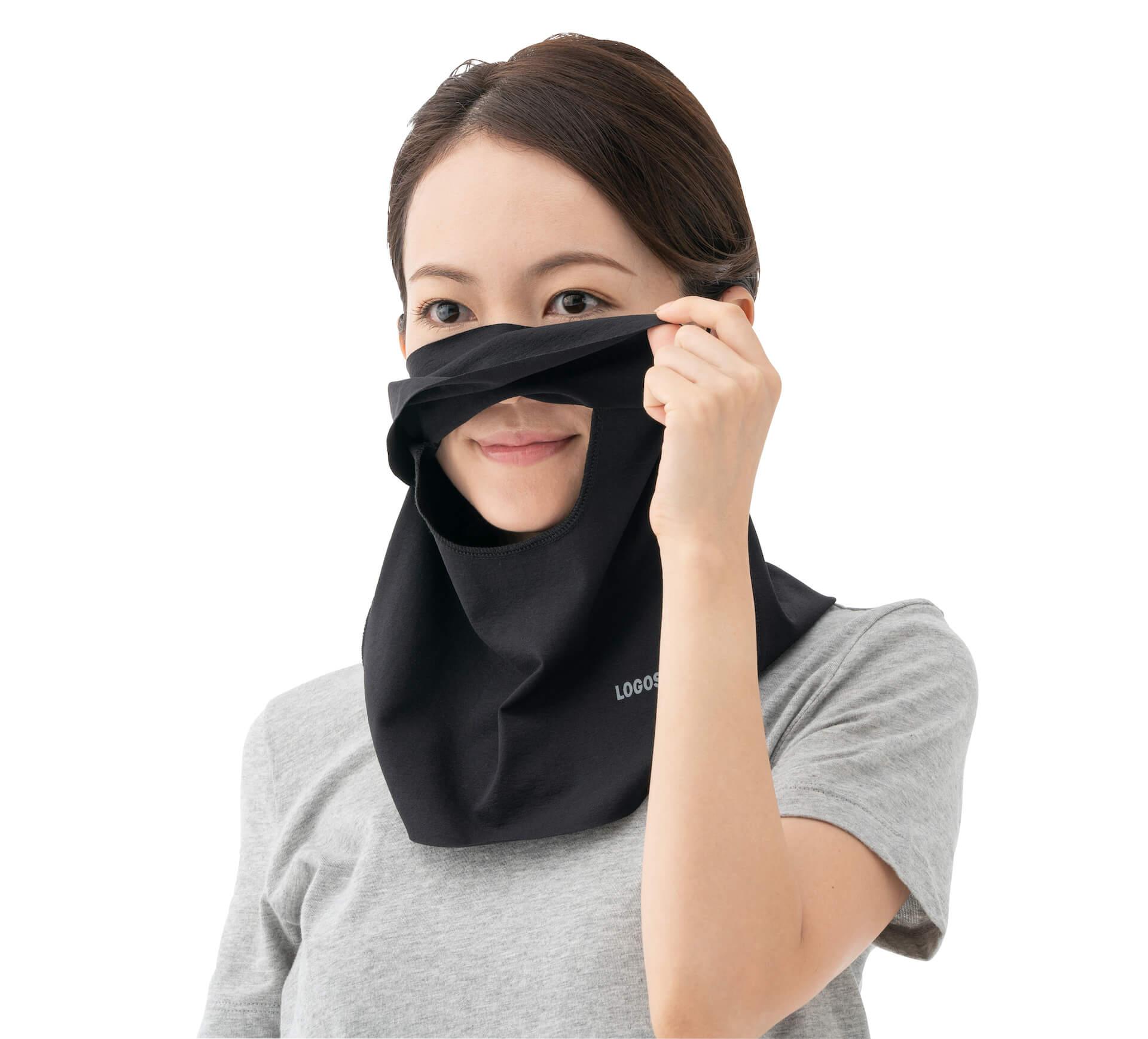 ひんやり素材のマスクで夏も快適!品切れ続出のLOGOS『美フィットスキン UVフェイスマスク』が追加販売決定 lf200609_.logos_mask_04