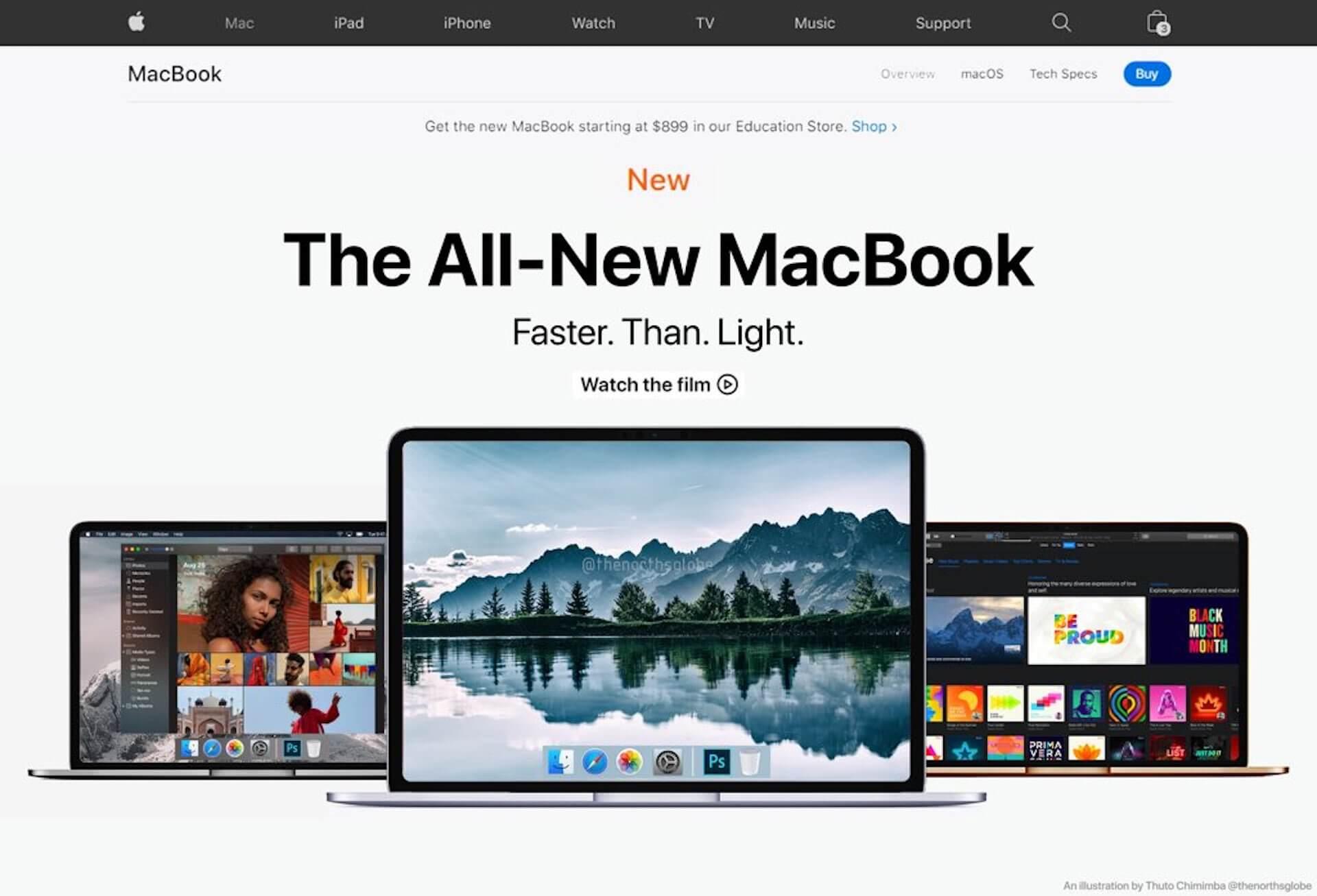 ARM搭載の新型MacBookがAppleサイトに登場!?発表済みと見間違えるほどのコンセプト画像が公開 tech200609_macbook_main