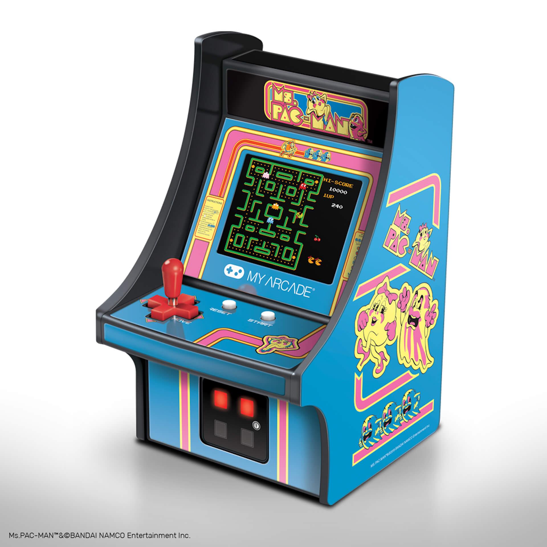 パックマンのミニチュアアーケードが家にやってくる!誕生40周年を記念した小型ゲーム機が続々登場 tech200610_pacman_3