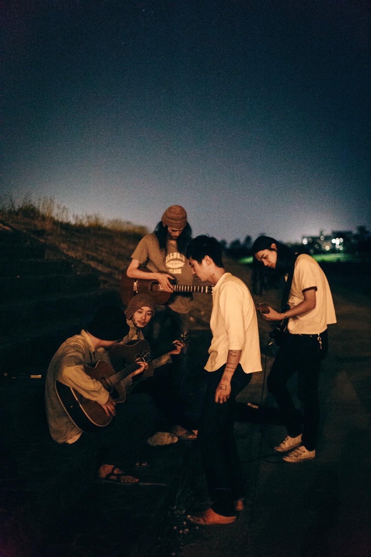 メッセージTシャツ・プロジェクト〈We will meet again〉にOGRE YOU ASSHOLEと踊ってばかりの国が登場 music200610-liquidroom-oya-odottebakarinokuni-2