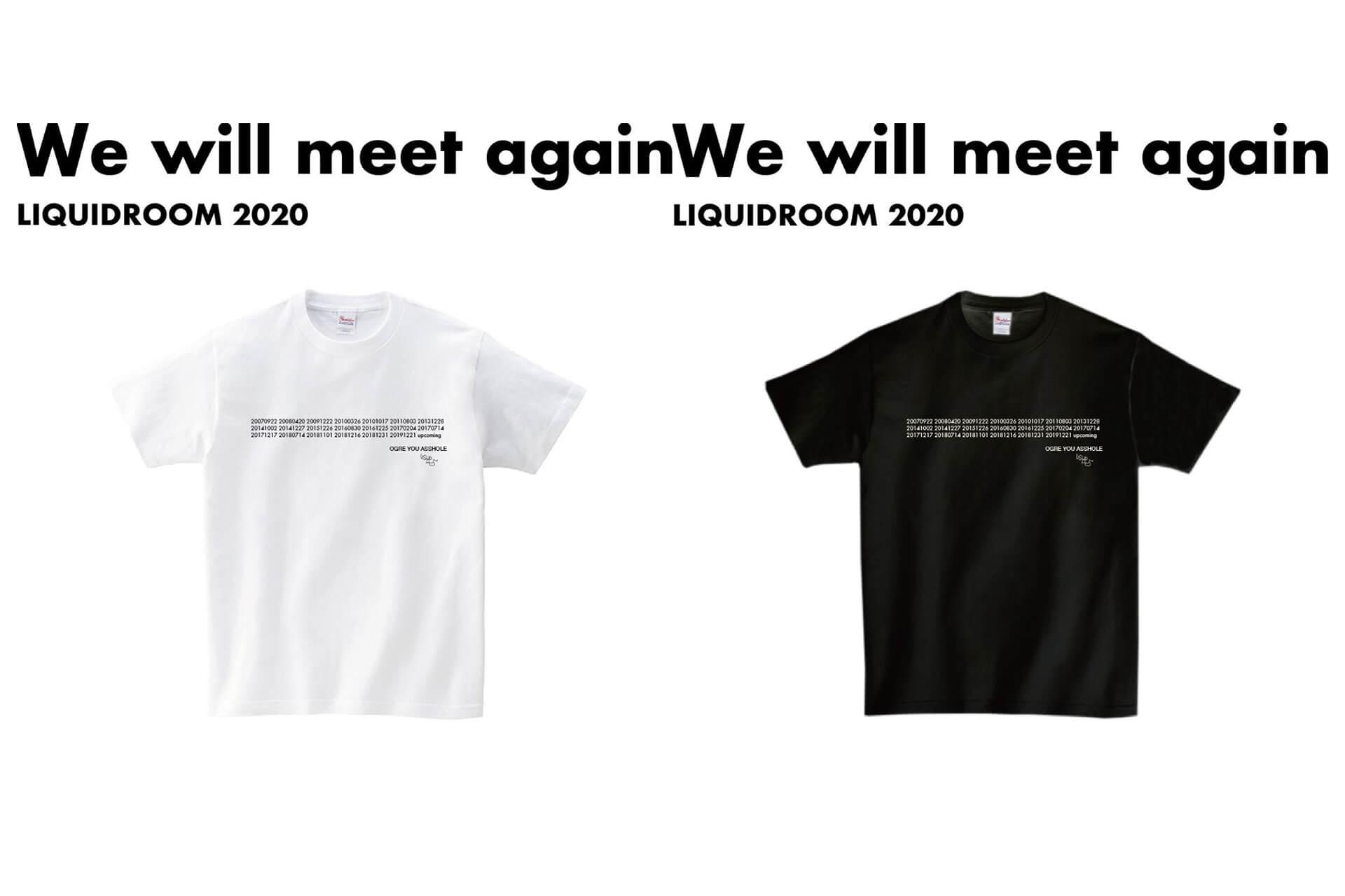 メッセージTシャツ・プロジェクト〈We will meet again〉にOGRE YOU ASSHOLEと踊ってばかりの国が登場 liquidroom3