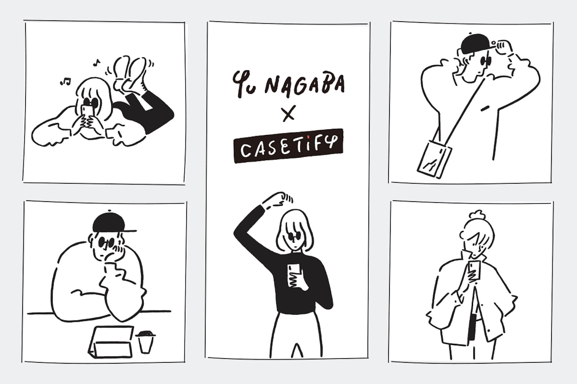 CASETiFYから「Yu Nagaba × CASETiFYコレクション」が登場!描き下ろし手描きフォントのケースや限定アートピース販売も ac200618_castify_yunagaba_02