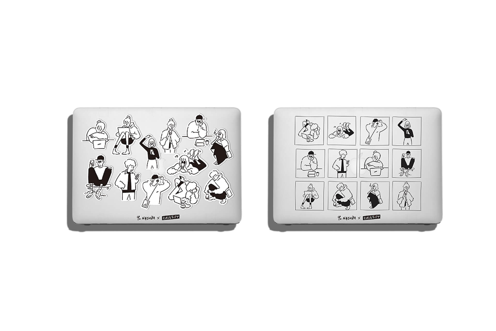 CASETiFYから「Yu Nagaba × CASETiFYコレクション」が登場!描き下ろし手描きフォントのケースや限定アートピース販売も ac200618_castify_yunagaba_08