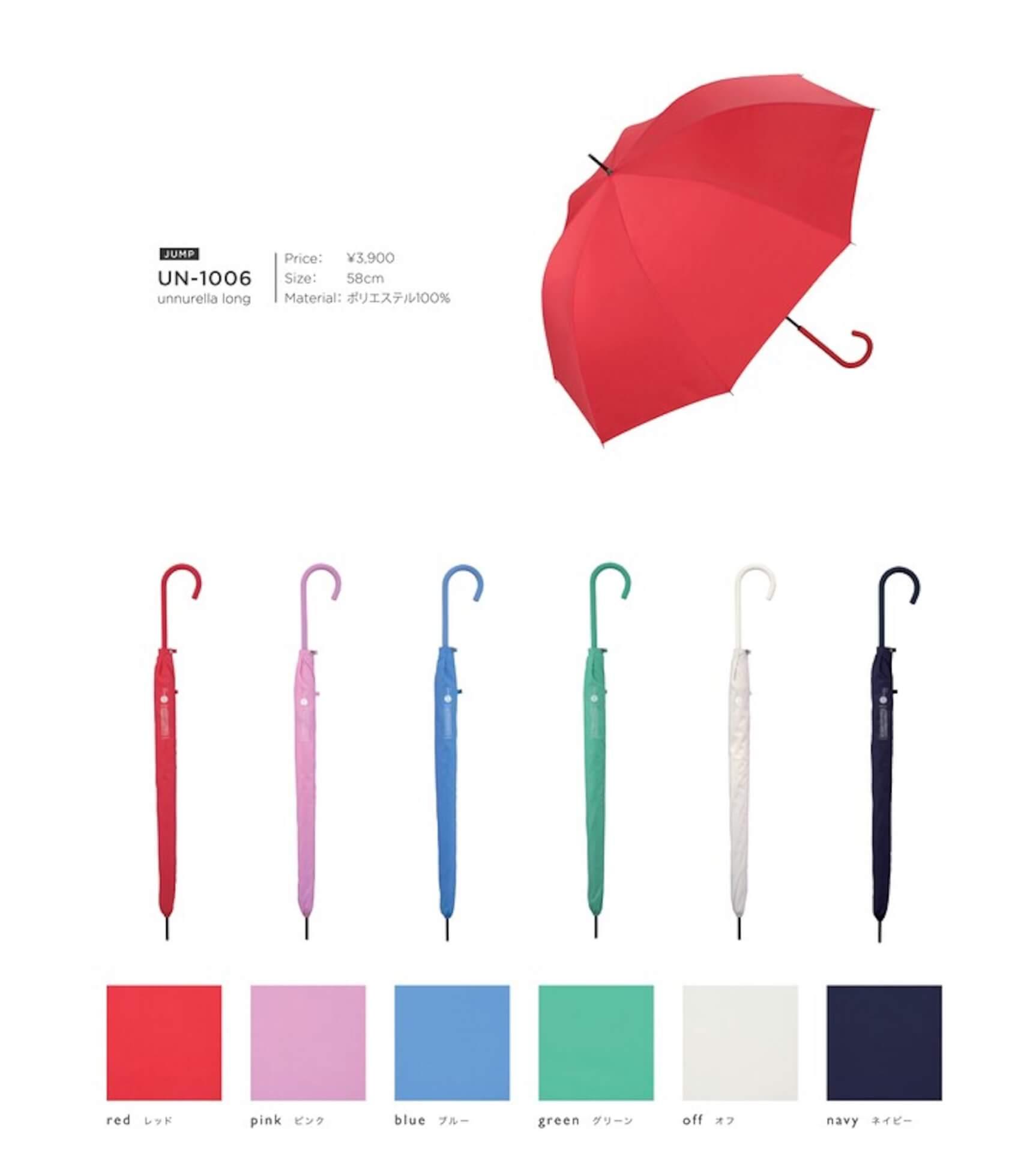 Wpc.(TM)から濡らさない傘『アンヌレラ』が登場!高いはっ水性・防水性で雨水が滴るのをガード lf200622_unnurella_wpc_01