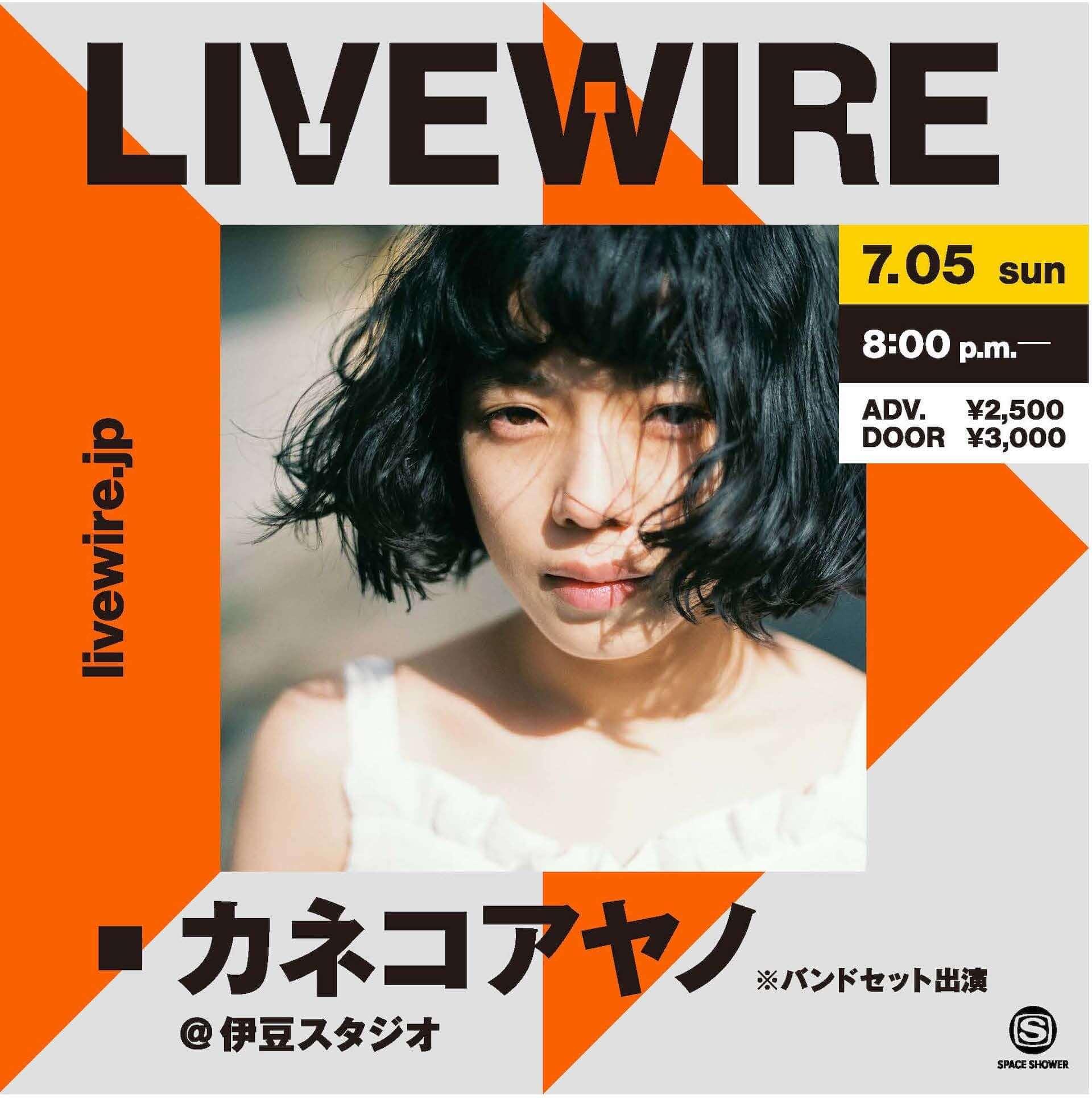 カネコアヤノが伊豆スタジオからバンドセット・ワンマンライブを披露!スペシャのライブ配信「LIVEWIRE」第一回公演詳細が解禁 music200622_livewire_1-1920x1929