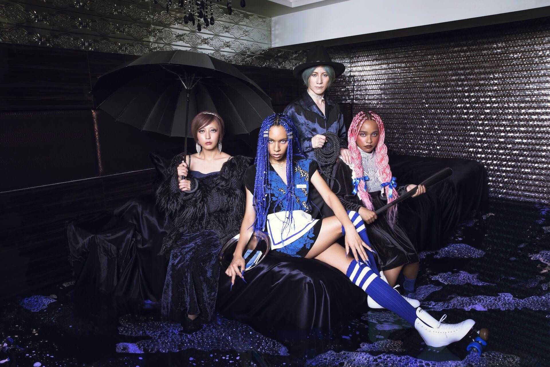 女王蜂はリキッドルームがお好き──LIQUIDROOMのコラボTプロジェクト〈We will meet again〉より新作発表 music200623-liquidroom-ziyoou-vachi-2