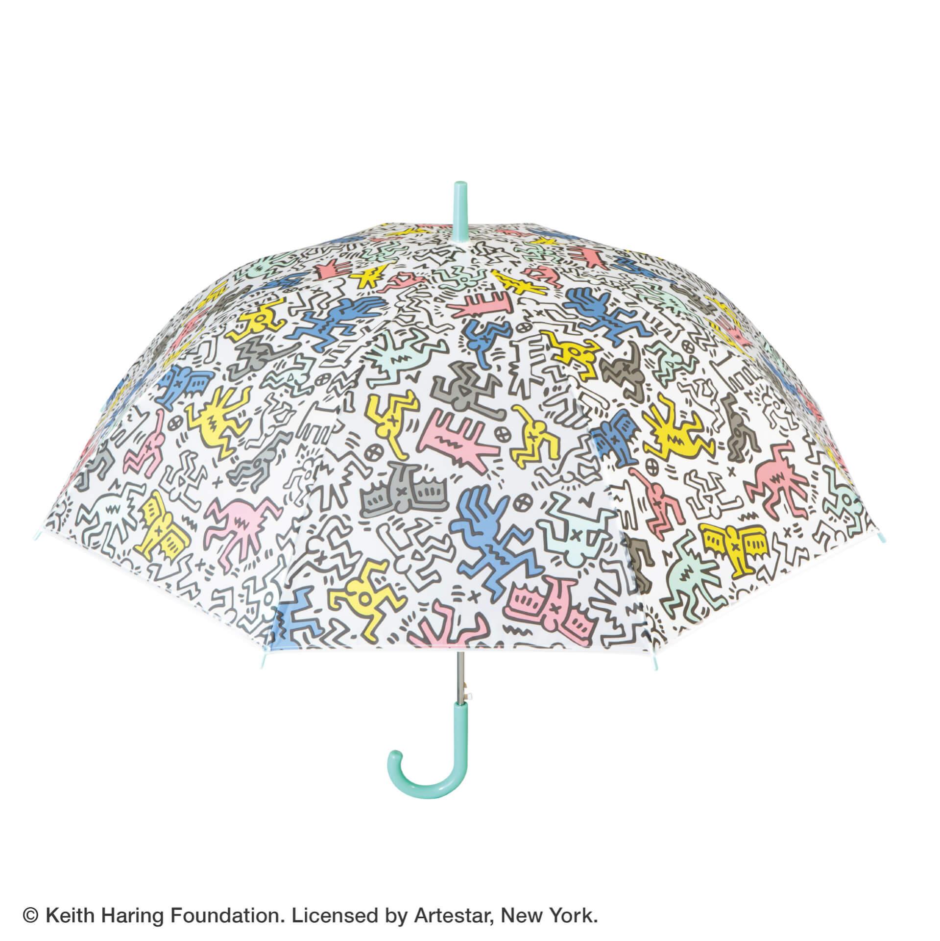 キース・ヘリングのアートデザインのビニール傘がセブンネットショッピングで先行予約開始!カラフル、モノトーンなど3種 lf200625_keith_haring_umbrella_02