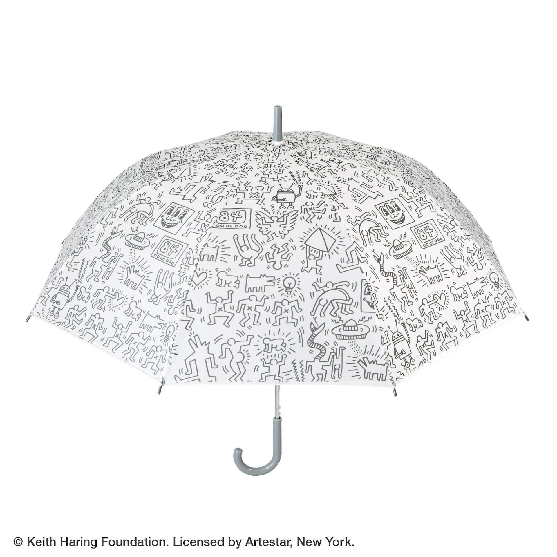 キース・ヘリングのアートデザインのビニール傘がセブンネットショッピングで先行予約開始!カラフル、モノトーンなど3種 lf200625_keith_haring_umbrella_03
