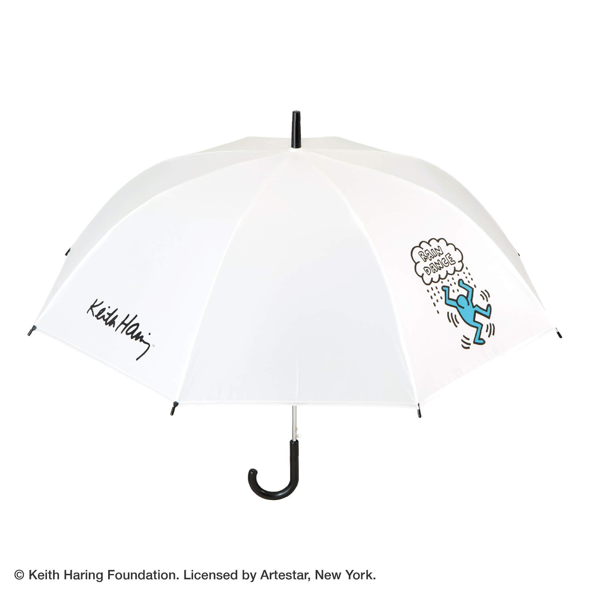 キース・ヘリングのアートデザインのビニール傘がセブンネットショッピングで先行予約開始!カラフル、モノトーンなど3種 lf200625_keith_haring_umbrella_04