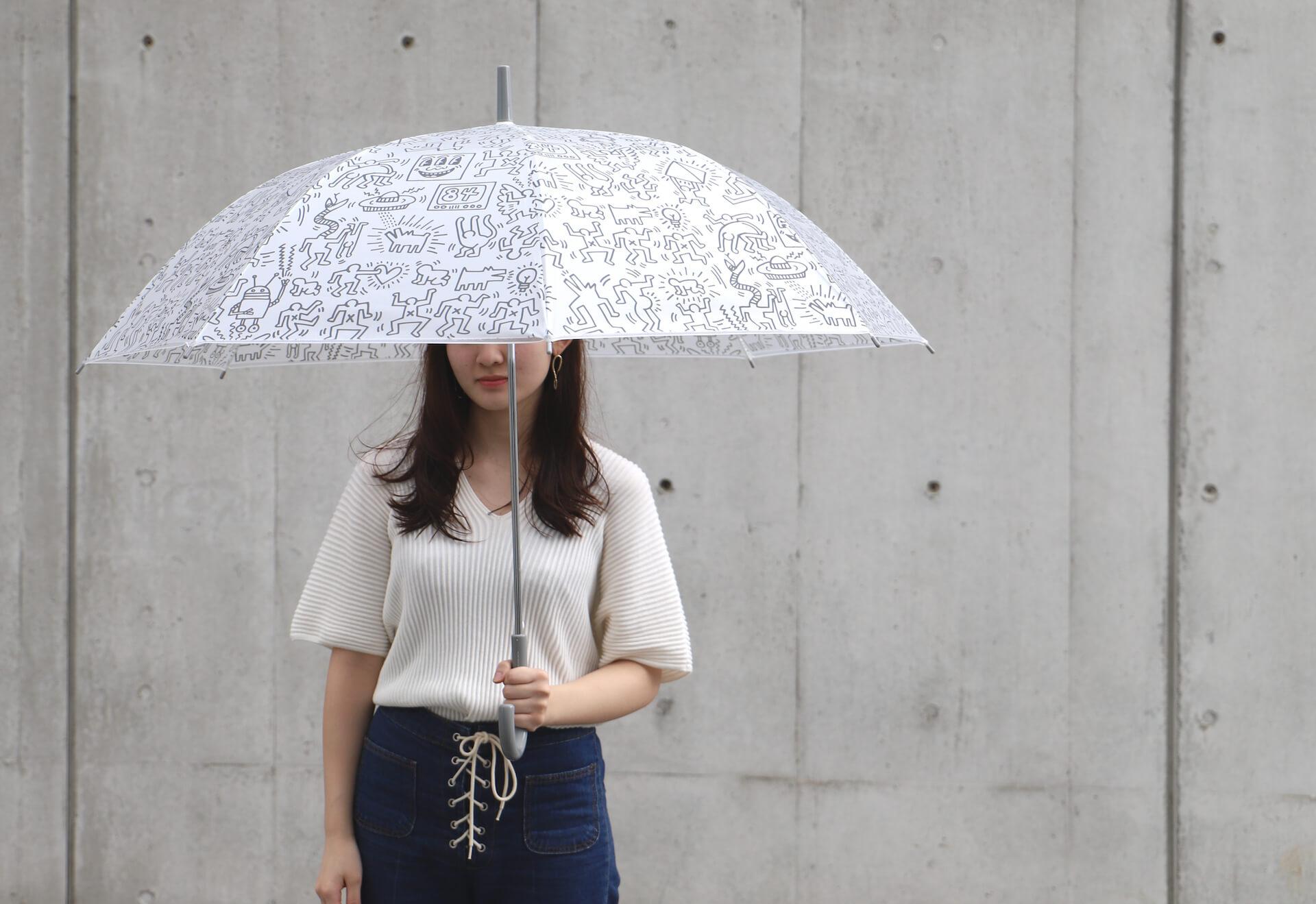 キース・ヘリングのアートデザインのビニール傘がセブンネットショッピングで先行予約開始!カラフル、モノトーンなど3種 lf200625_keith_haring_umbrella_07