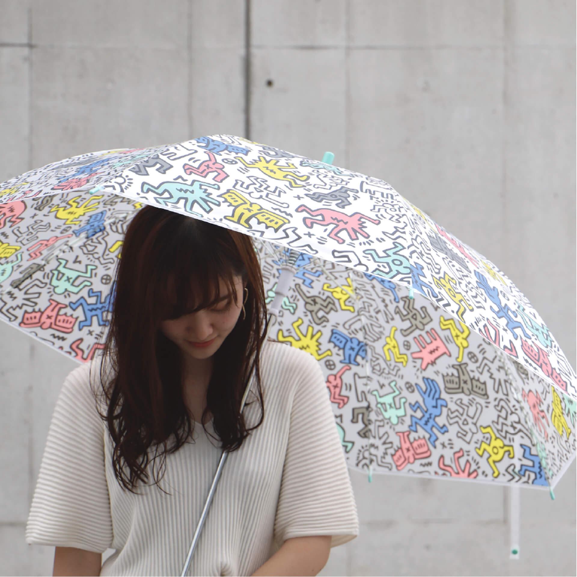 キース・ヘリングのアートデザインのビニール傘がセブンネットショッピングで先行予約開始!カラフル、モノトーンなど3種 lf200625_keith_haring_umbrella_08