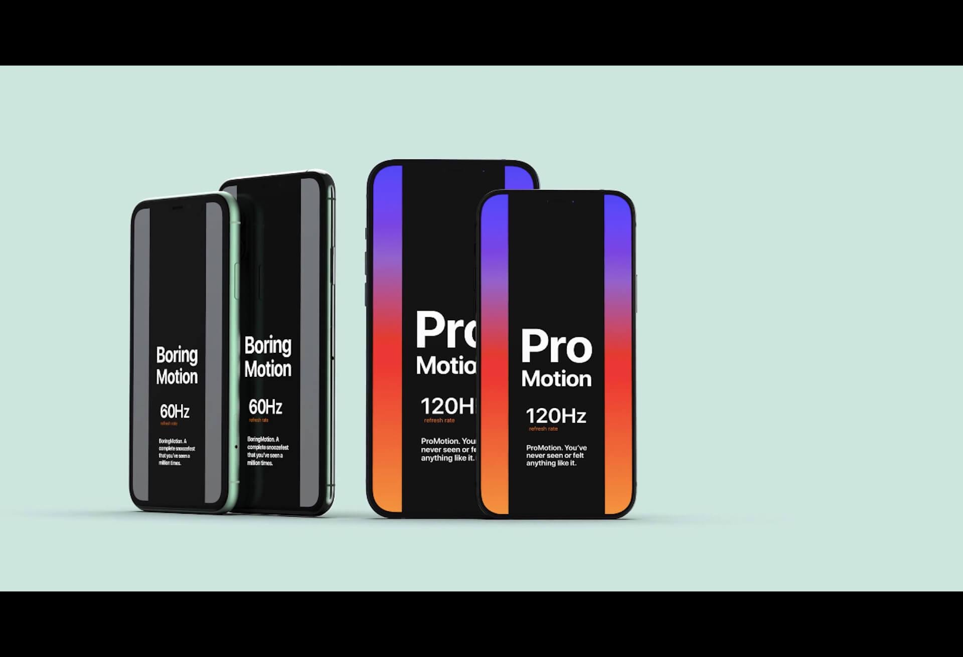 iPhone 12 Proシリーズは120HzリフレッシュレートのProMotionディスプレイ搭載で決定?情報源が多数登場 tech200629_iphone12_main