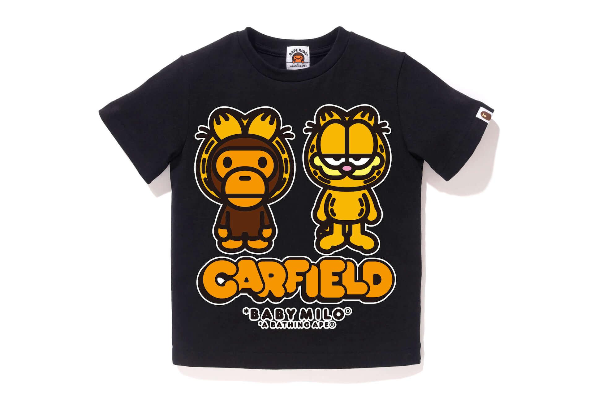世界一有名なネコ、ガーフィールドとBAPE®︎が初共演!Tシャツ、フーディーなどコラボグッズが多数登場 lf200629_garfield_13-1920x1280