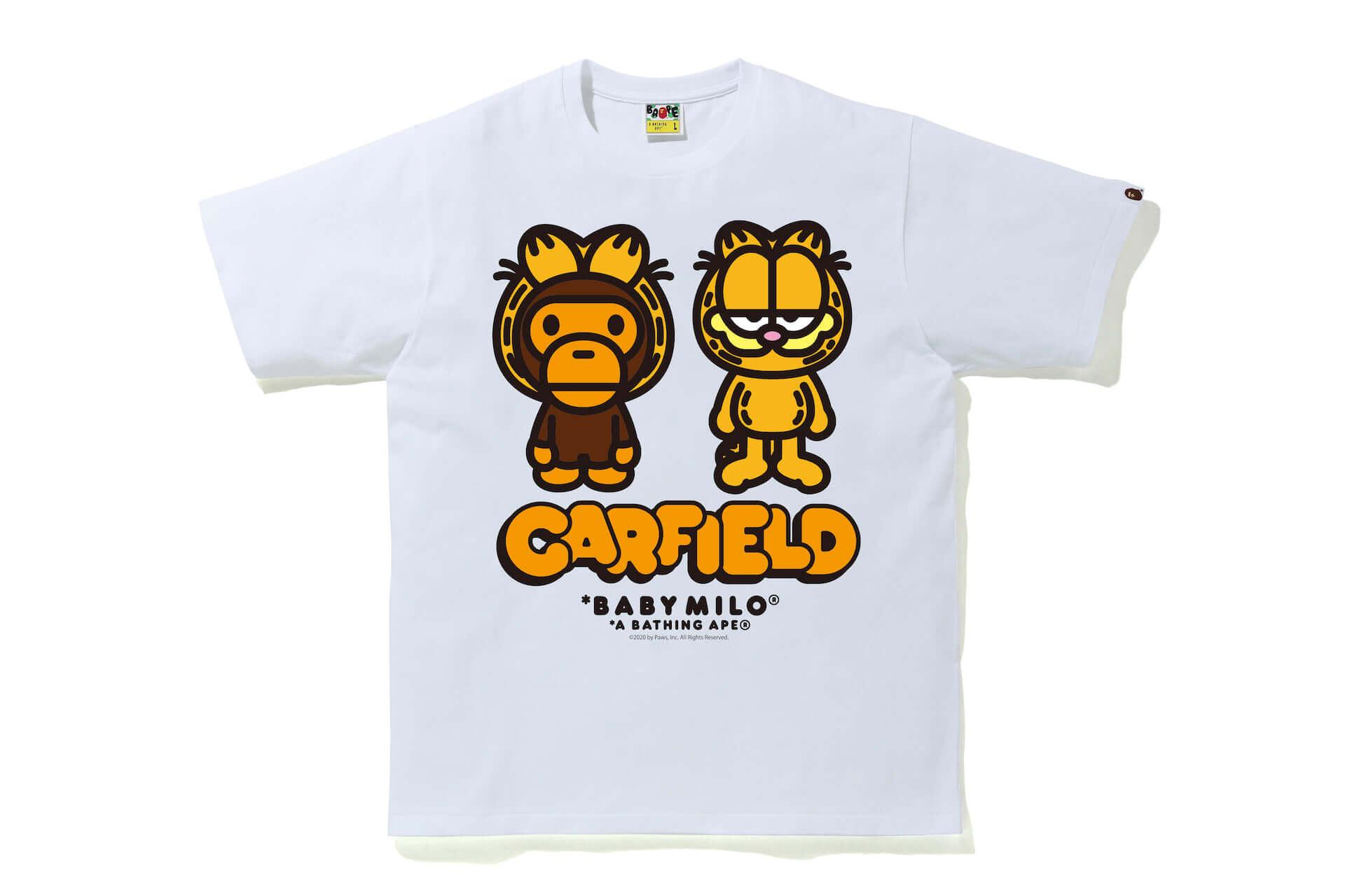 世界一有名なネコ、ガーフィールドとBAPE®︎が初共演!Tシャツ、フーディーなどコラボグッズが多数登場 lf200629_garfield_15-1920x1280