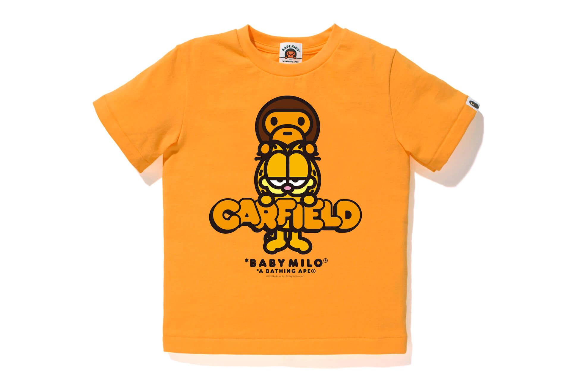 世界一有名なネコ、ガーフィールドとBAPE®︎が初共演!Tシャツ、フーディーなどコラボグッズが多数登場 lf200629_garfield_7-1920x1280