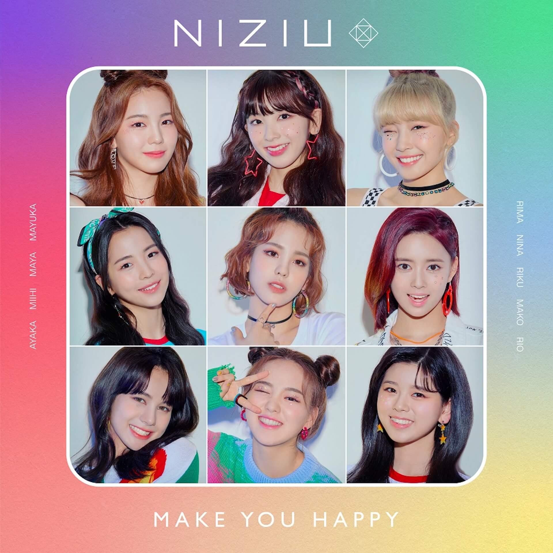 NiziU、プレデビューアルバム『Make you happy』&MVを初解禁!ファンクラブ「WithU」も明日始動 music200630_niziu_5