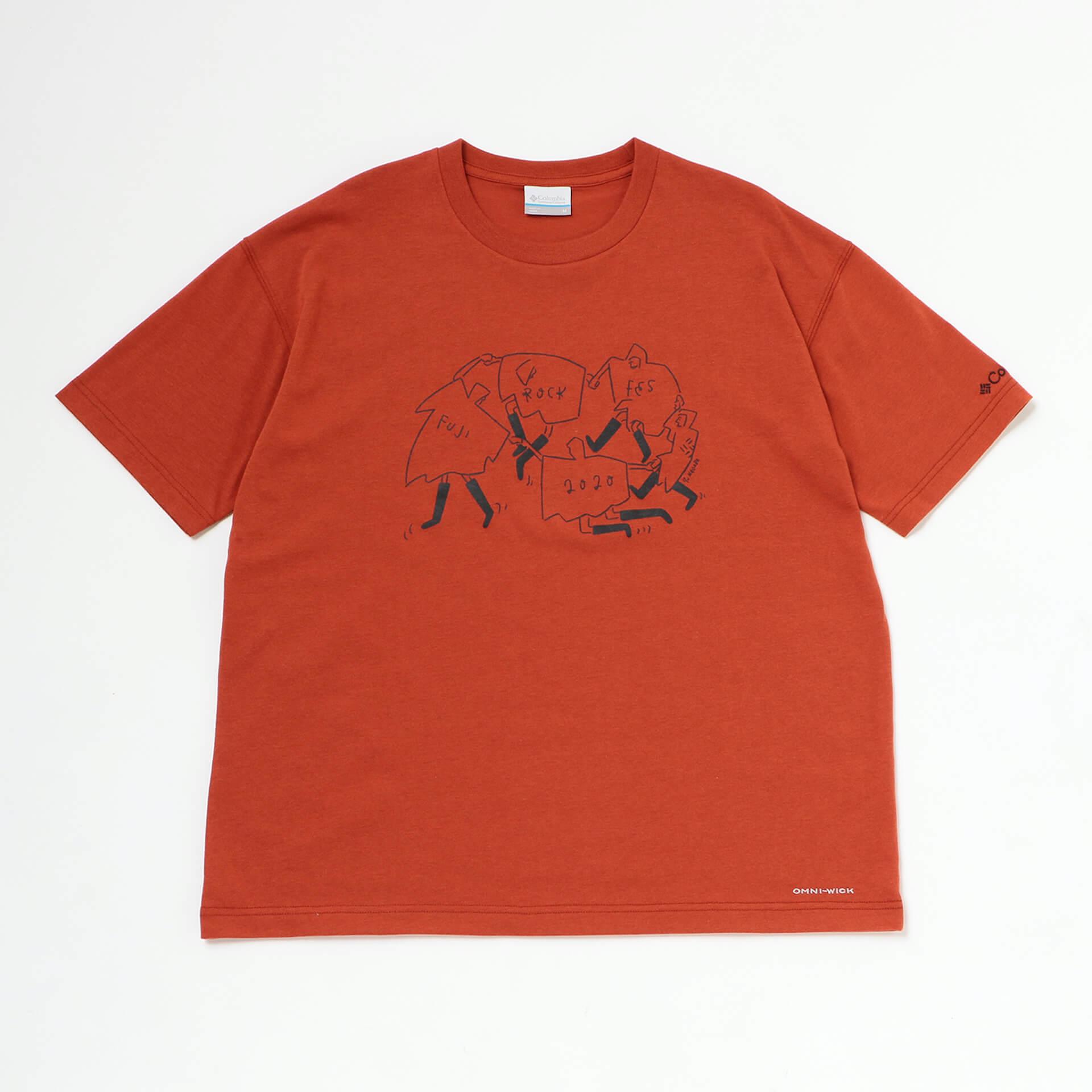 Columbiaと<FUJI ROCK FESTIVAL'20>がコラボ!長場雄のイラストが描かれた機能的なTシャツが登場 lf200630_columbia_fujirock_01