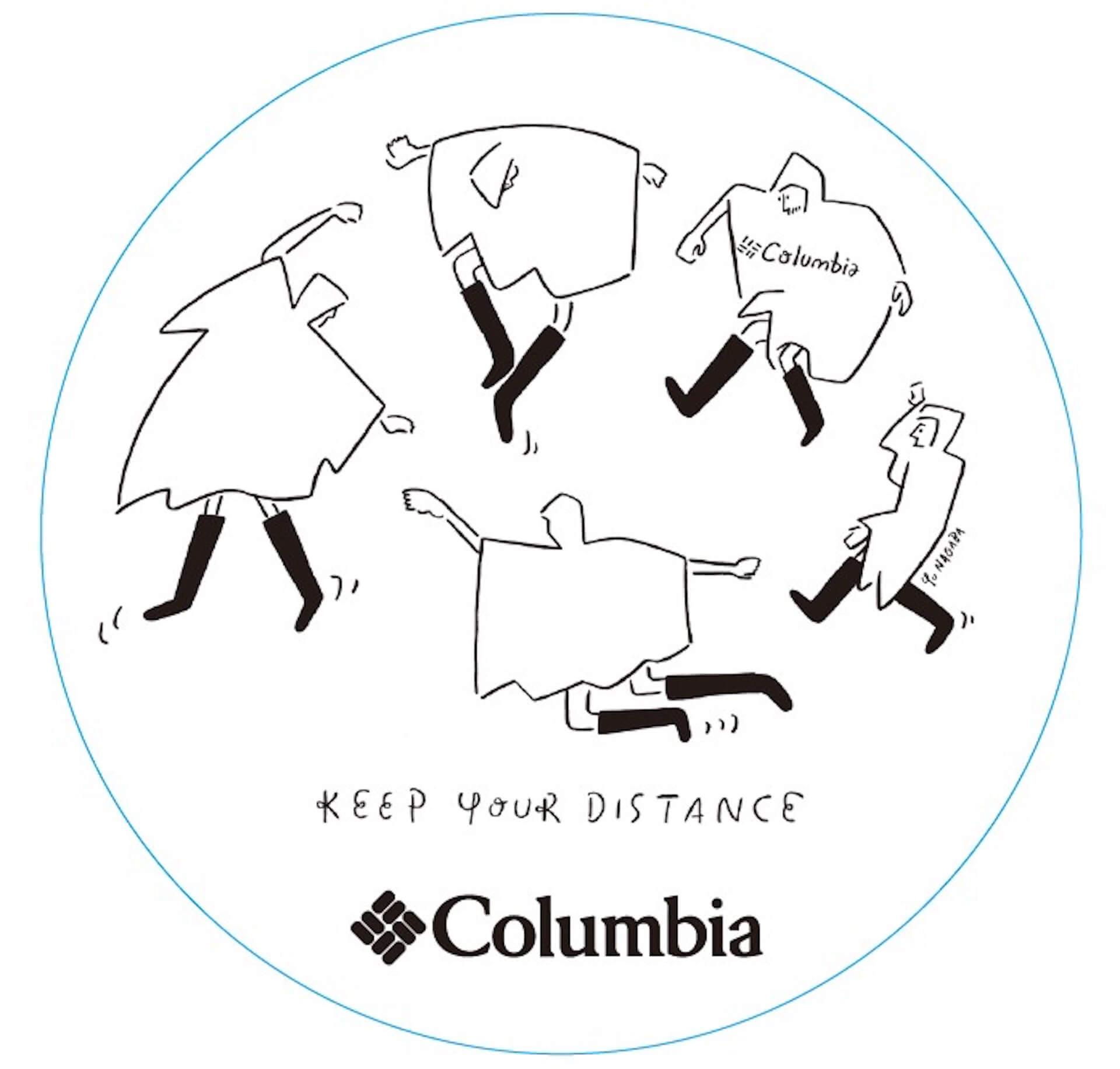 Columbiaと<FUJI ROCK FESTIVAL'20>がコラボ!長場雄のイラストが描かれた機能的なTシャツが登場 lf200630_columbia_fujirock_02