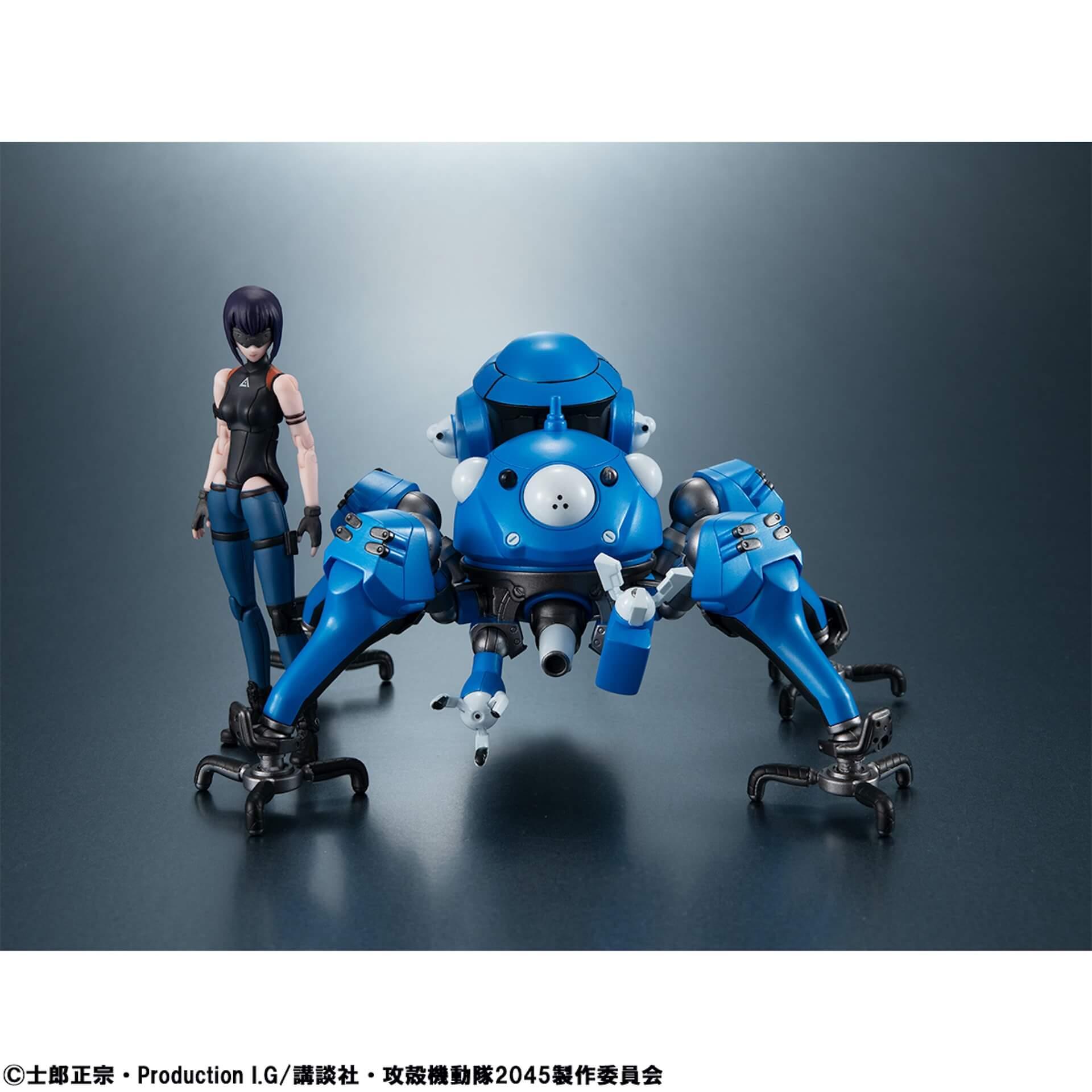 豊富なギミックありの『攻殻機動隊 SAC_2045』タチコマフィギュアがメガハウスから登場!背面ポッドに少佐が搭乗可能 ac200701_tachikoma_figure_02