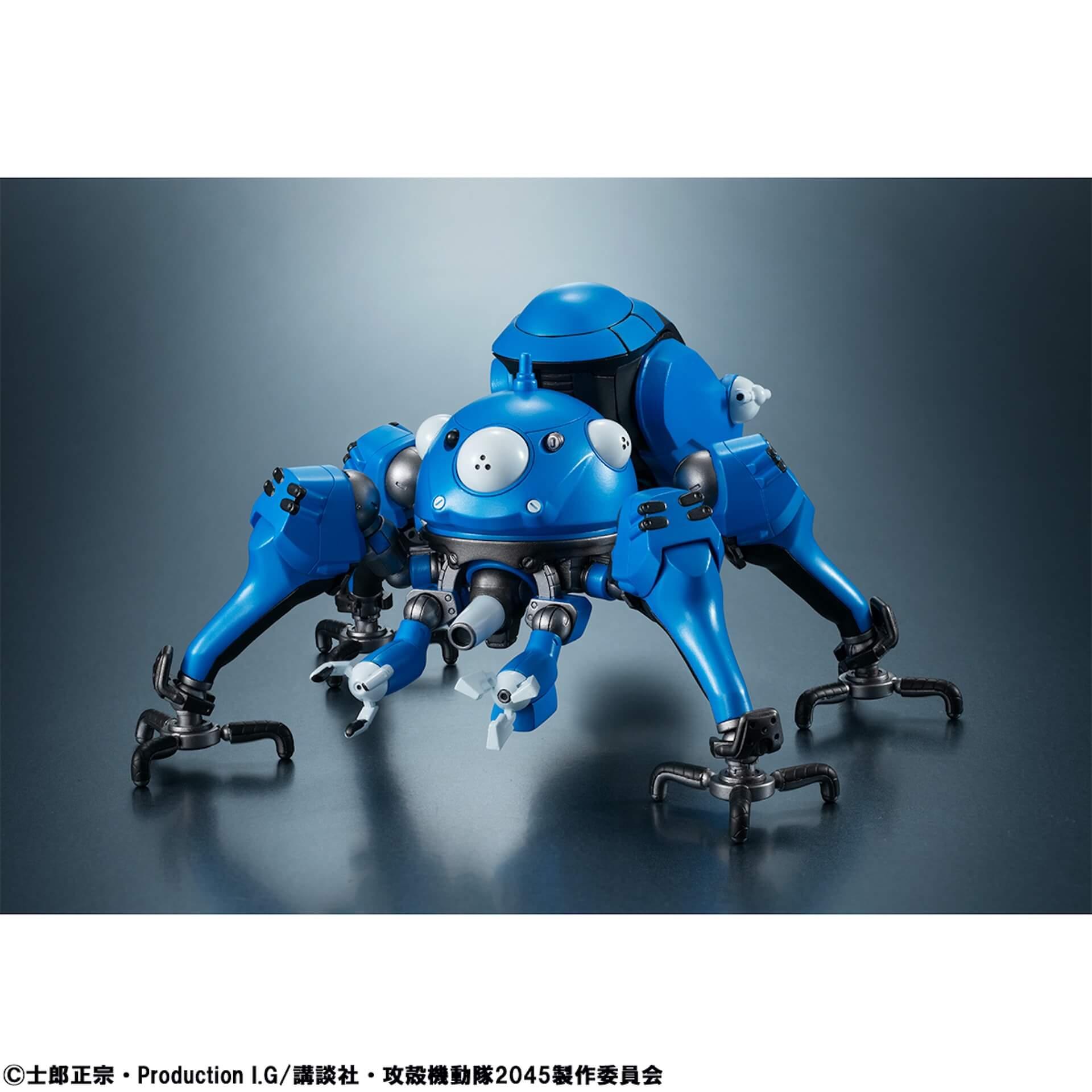 豊富なギミックありの『攻殻機動隊 SAC_2045』タチコマフィギュアがメガハウスから登場!背面ポッドに少佐が搭乗可能 ac200701_tachikoma_figure_03