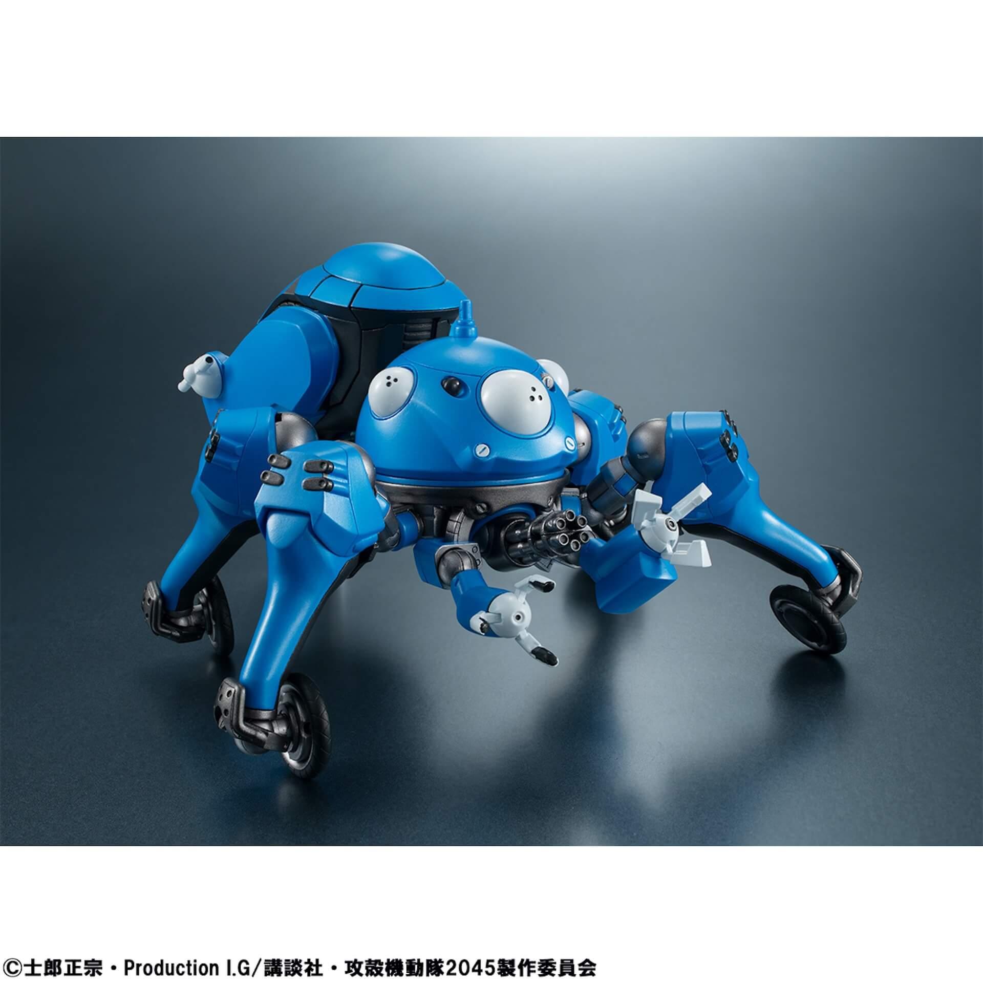 豊富なギミックありの『攻殻機動隊 SAC_2045』タチコマフィギュアがメガハウスから登場!背面ポッドに少佐が搭乗可能 ac200701_tachikoma_figure_05