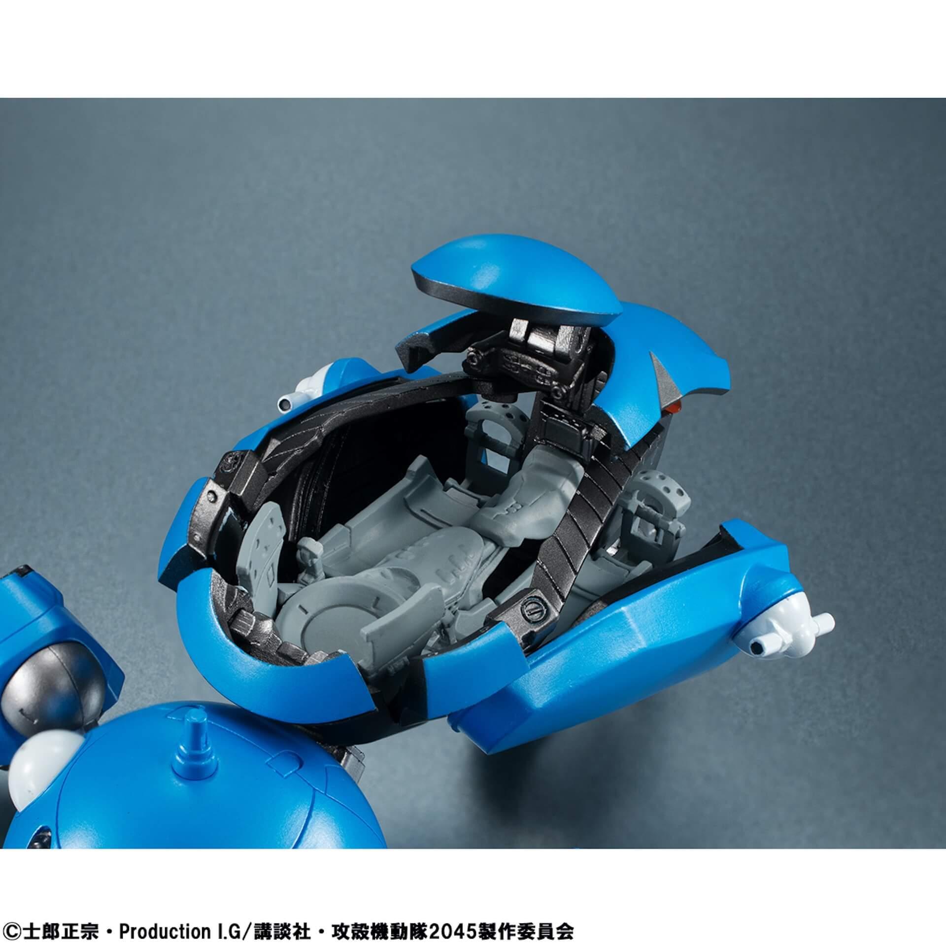 豊富なギミックありの『攻殻機動隊 SAC_2045』タチコマフィギュアがメガハウスから登場!背面ポッドに少佐が搭乗可能 ac200701_tachikoma_figure_07