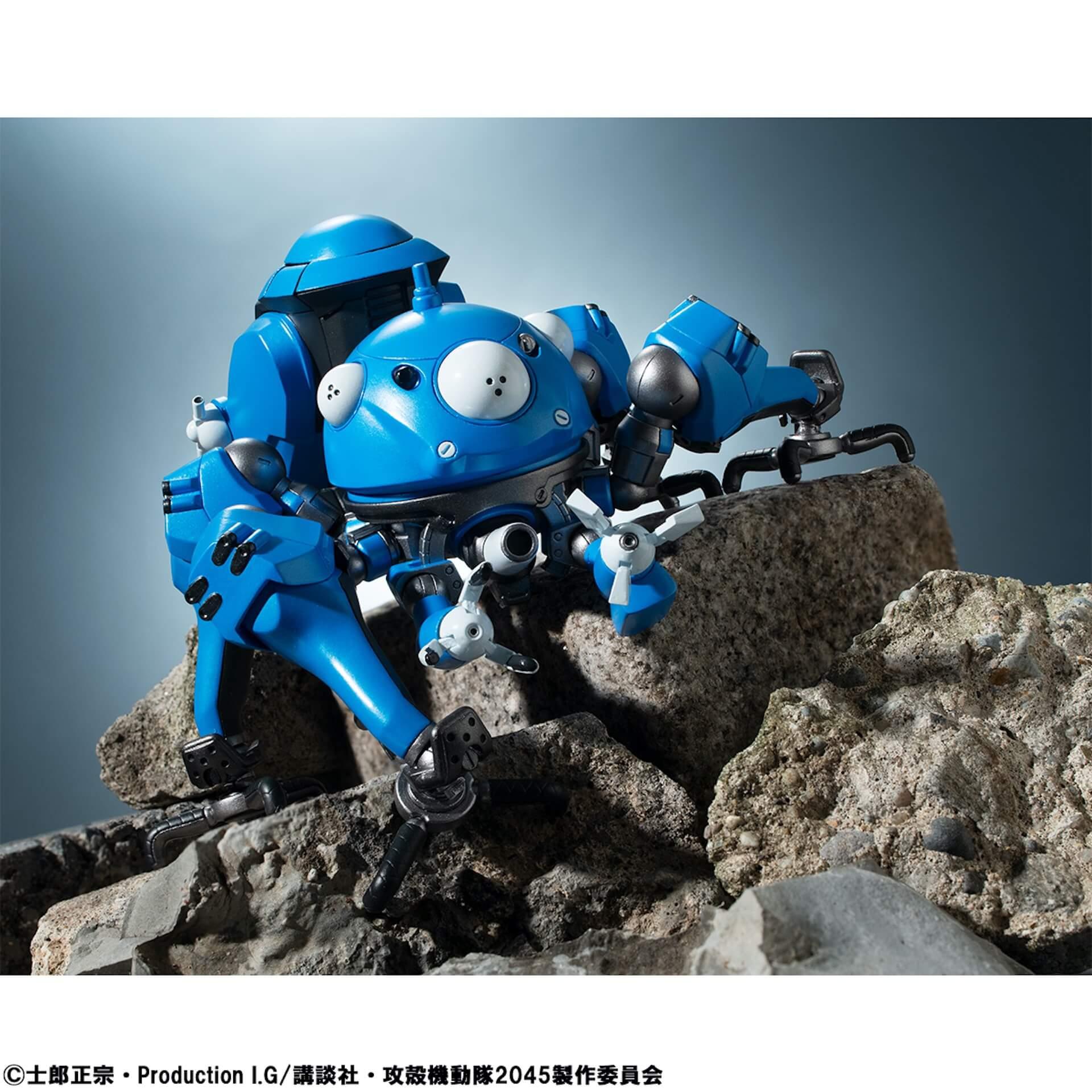 豊富なギミックありの『攻殻機動隊 SAC_2045』タチコマフィギュアがメガハウスから登場!背面ポッドに少佐が搭乗可能 ac200701_tachikoma_figure_08