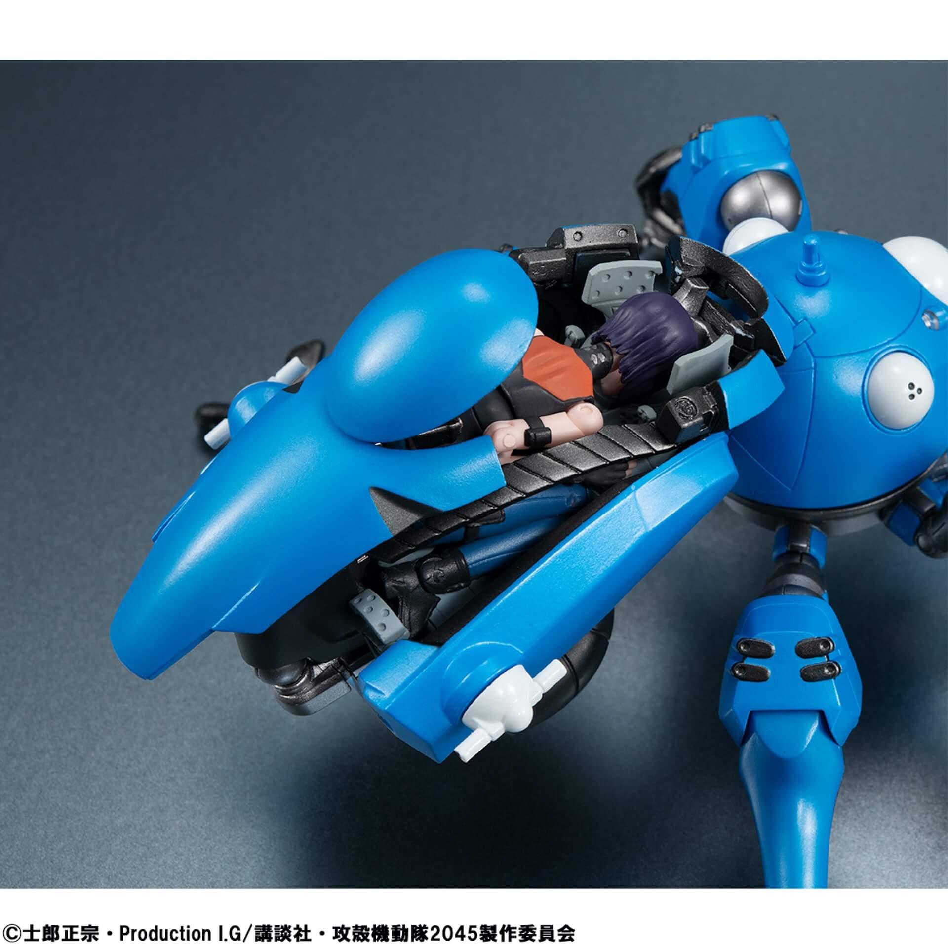 豊富なギミックありの『攻殻機動隊 SAC_2045』タチコマフィギュアがメガハウスから登場!背面ポッドに少佐が搭乗可能 ac200701_tachikoma_figure_10