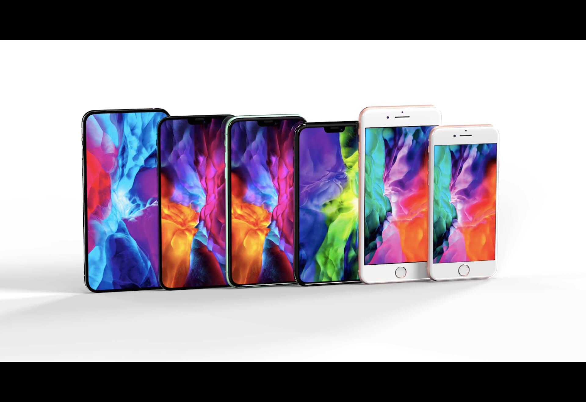 iPhone 12シリーズの全サイズのモックアップと歴代iPhoneをサイズ比較した画像が公開! tech200708_iphone12_mockup_main