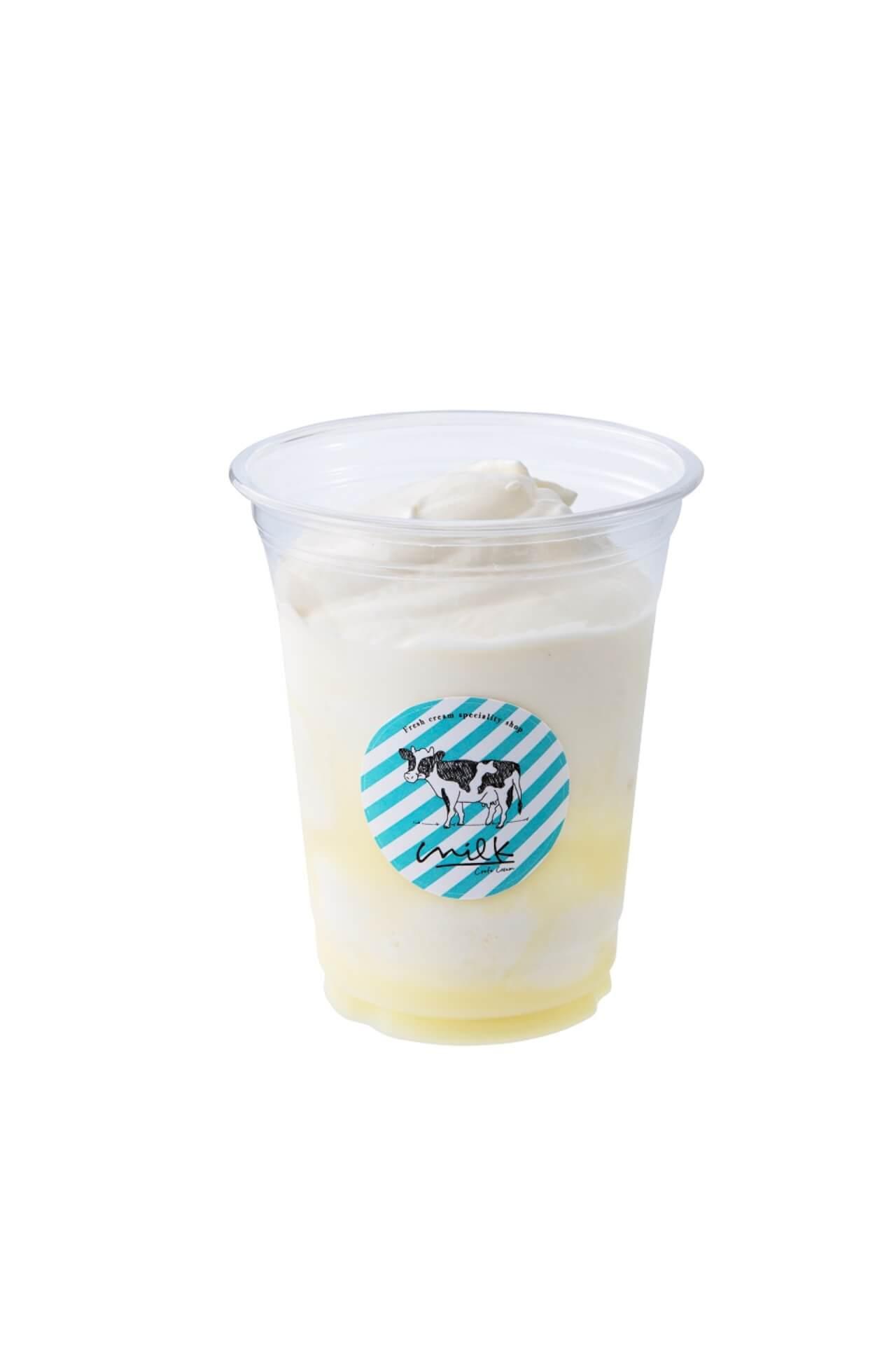渋谷ミルクがかき氷屋さんに!ふわふわのいちごやマンゴーなどの果物のかき氷が食べ歩きサイズ・夏季限定で新登場 gourmet200709_milk_kakigori_03