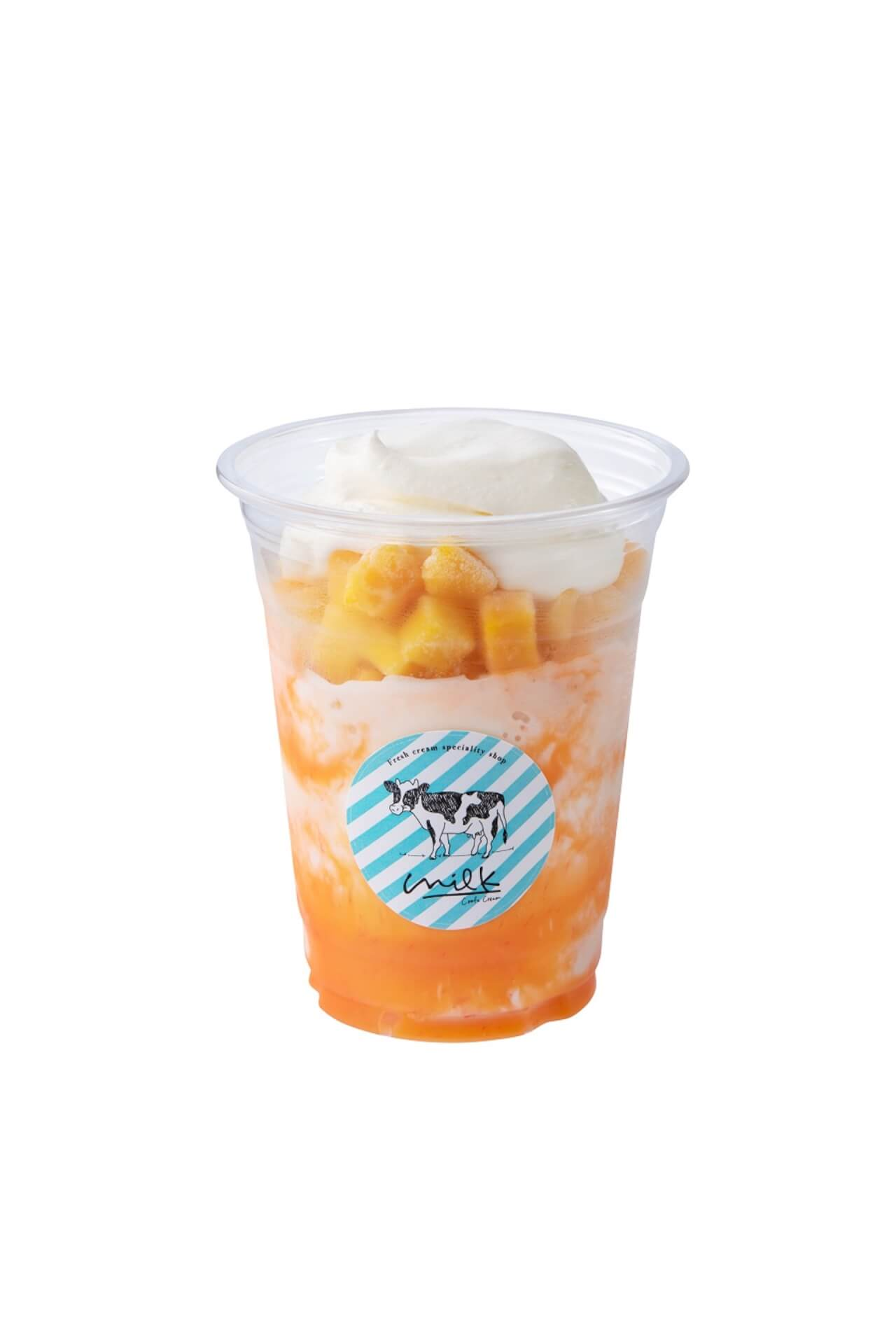 渋谷ミルクがかき氷屋さんに!ふわふわのいちごやマンゴーなどの果物のかき氷が食べ歩きサイズ・夏季限定で新登場 gourmet200709_milk_kakigori_05